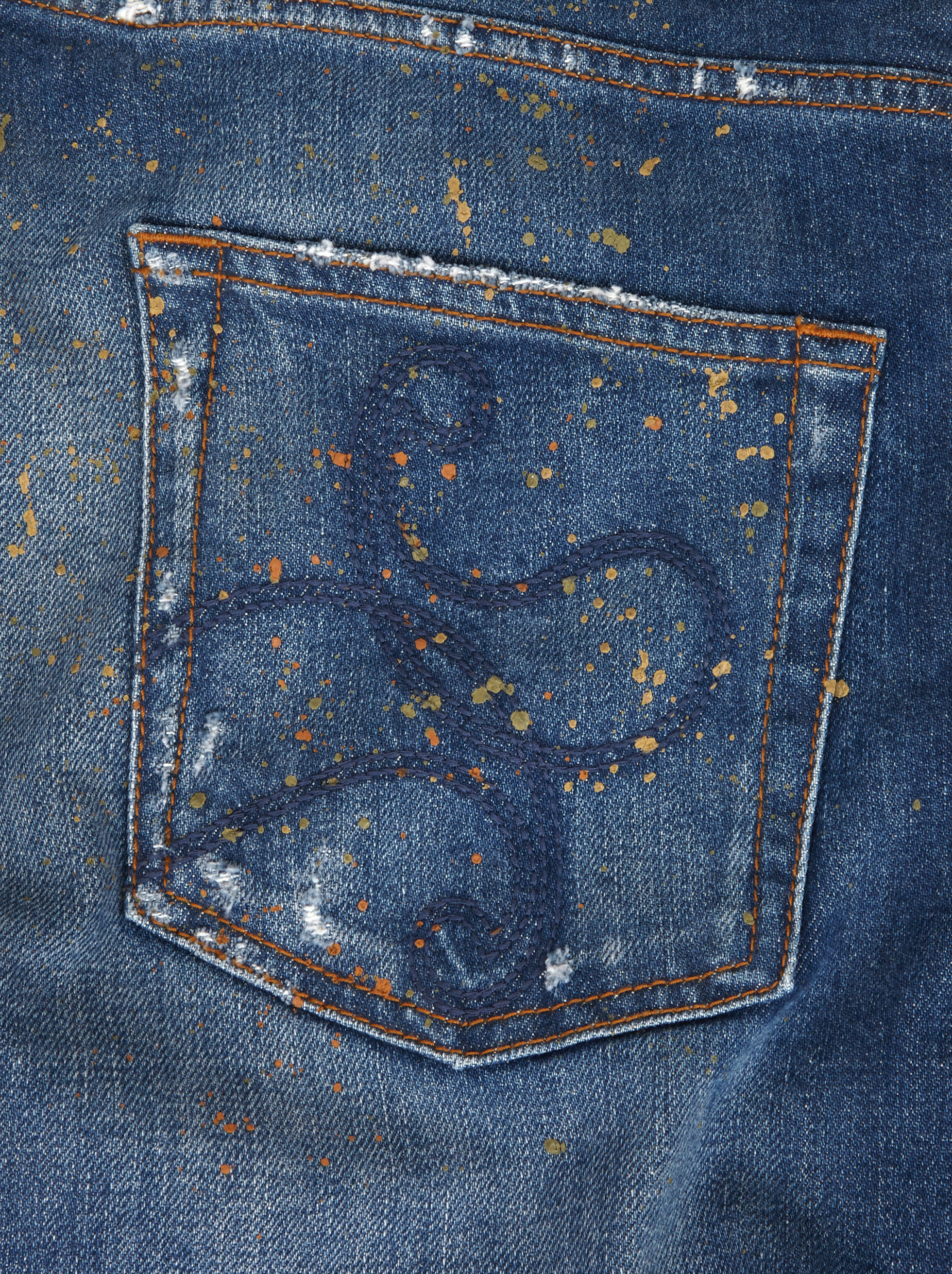 JEANS WITH PAINT SPLASHES