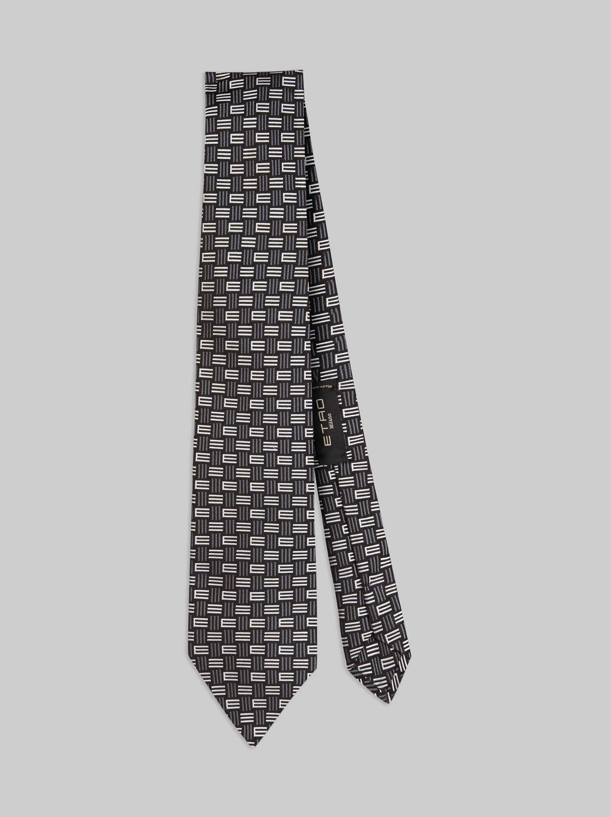 JACQUARD SILK TIE WITH LOGO