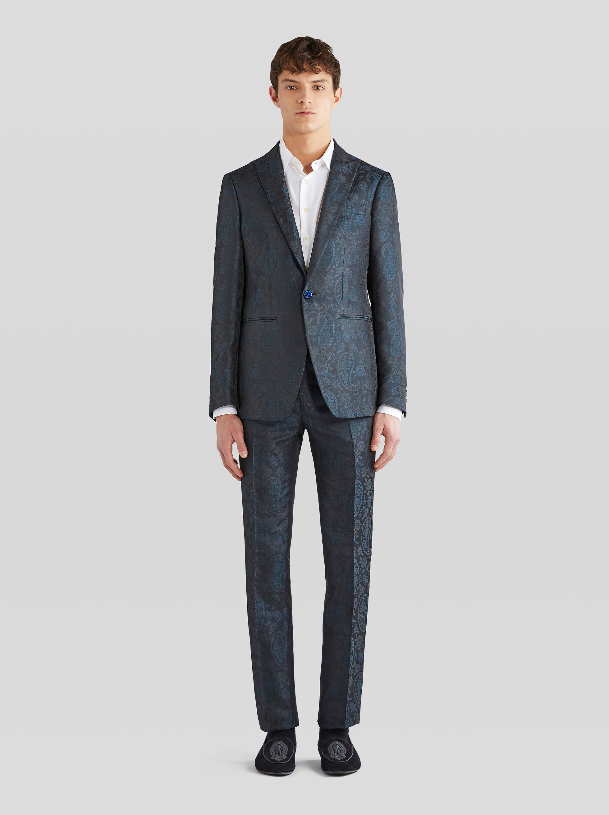 SILK JACQUARD TAILORED JACKET