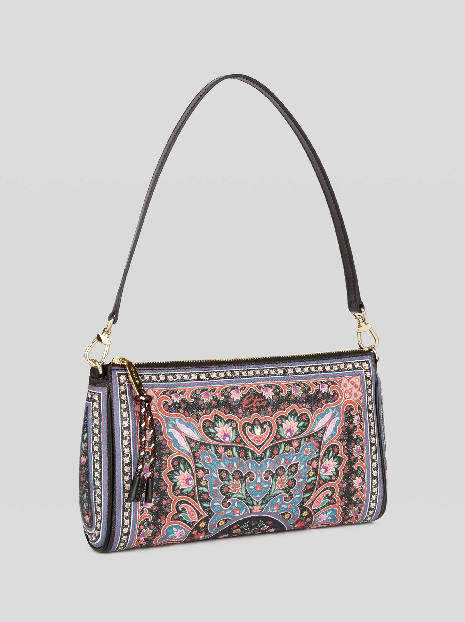 SHOULDER BAG WITH FLORAL PATTERNS