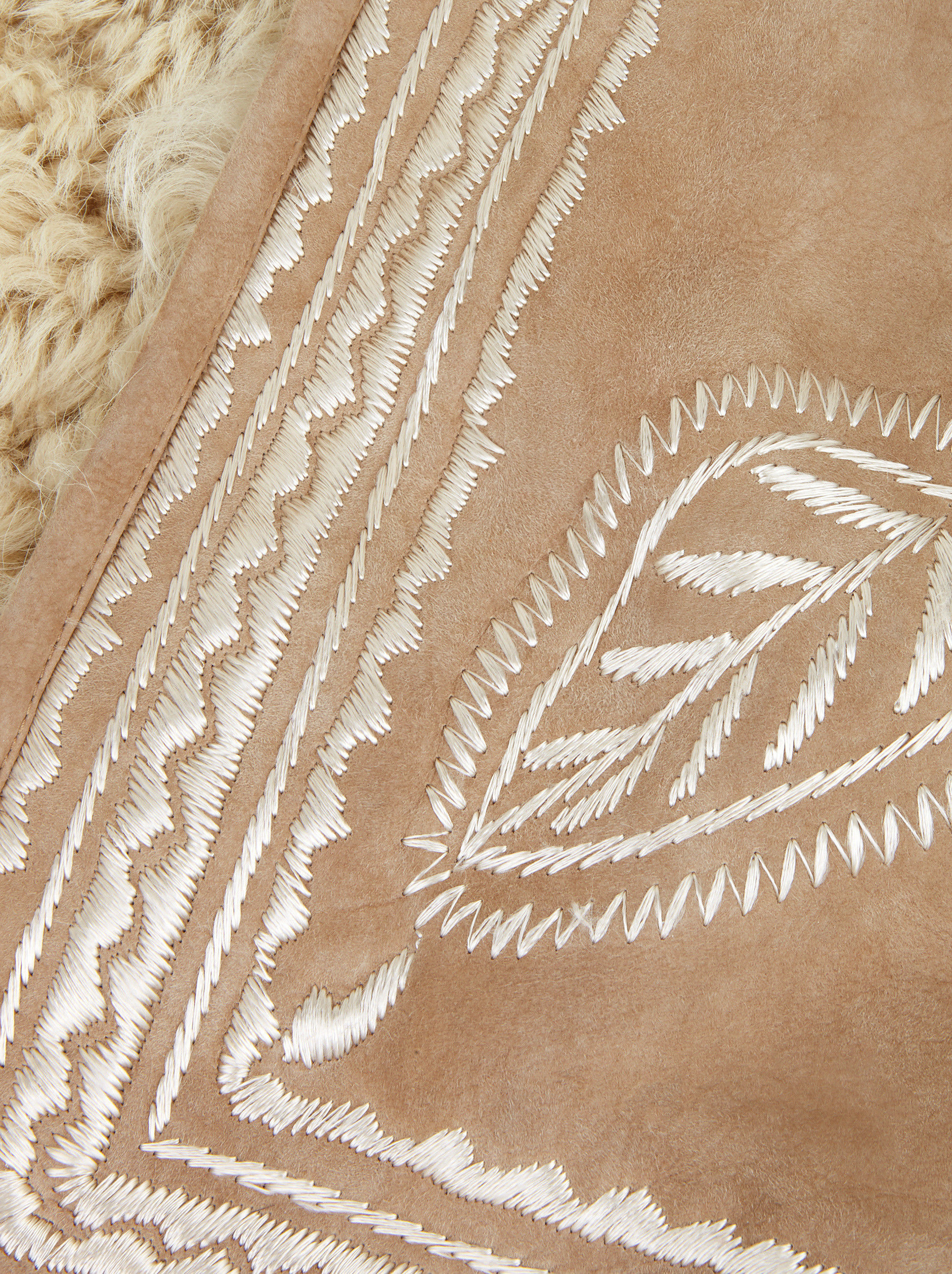 SHEEPSKIN GILET WITH EMBROIDERY