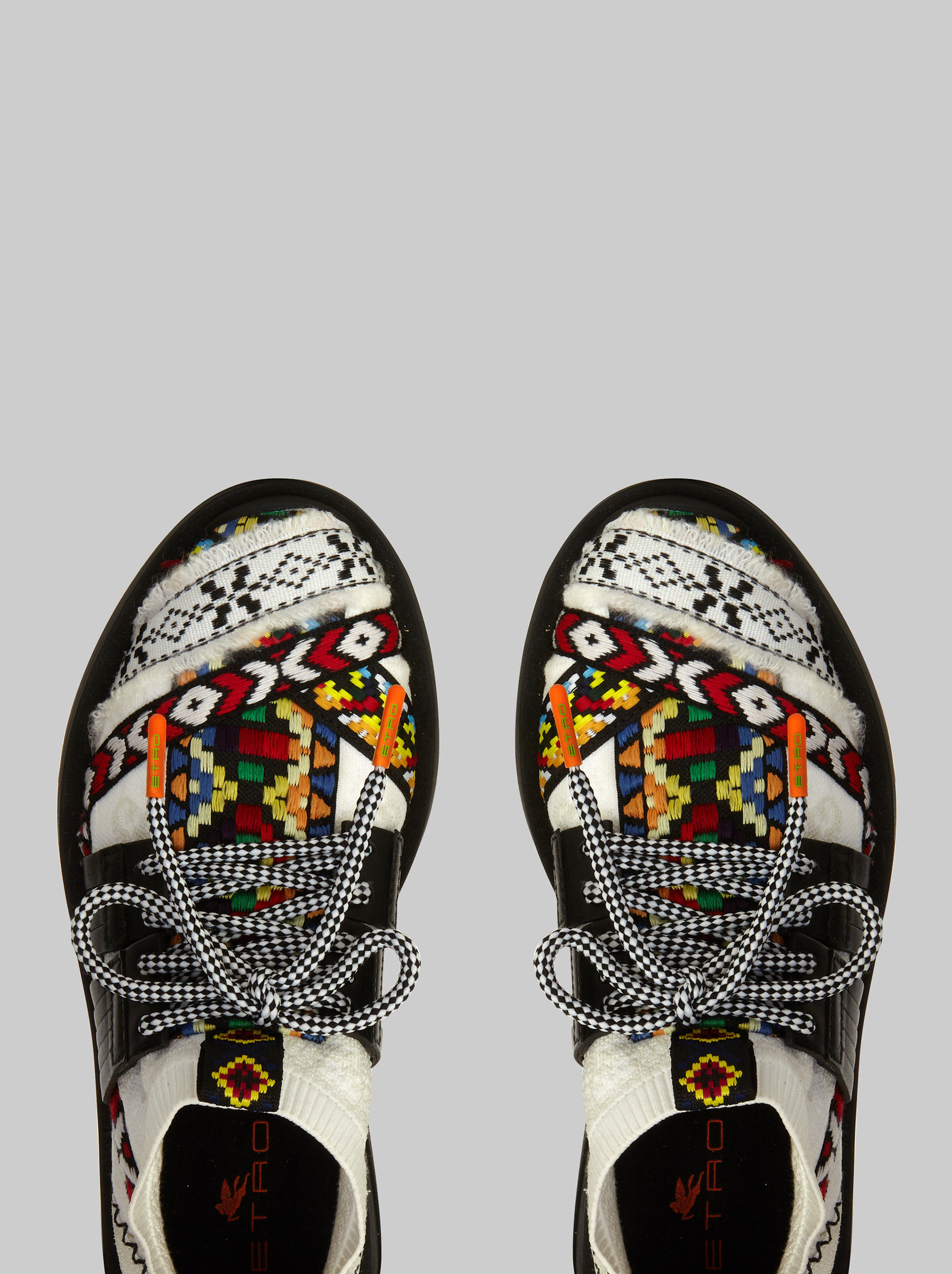 JACQUARD SNEAKERS WITH GEOMETRIC PATTERNS