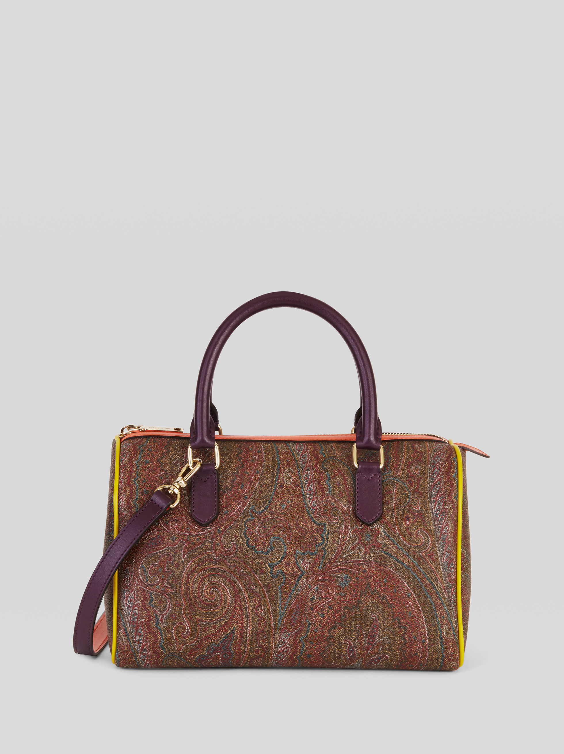 PAISLEY HANDBAG WITH MULTICOLORED INSERTS