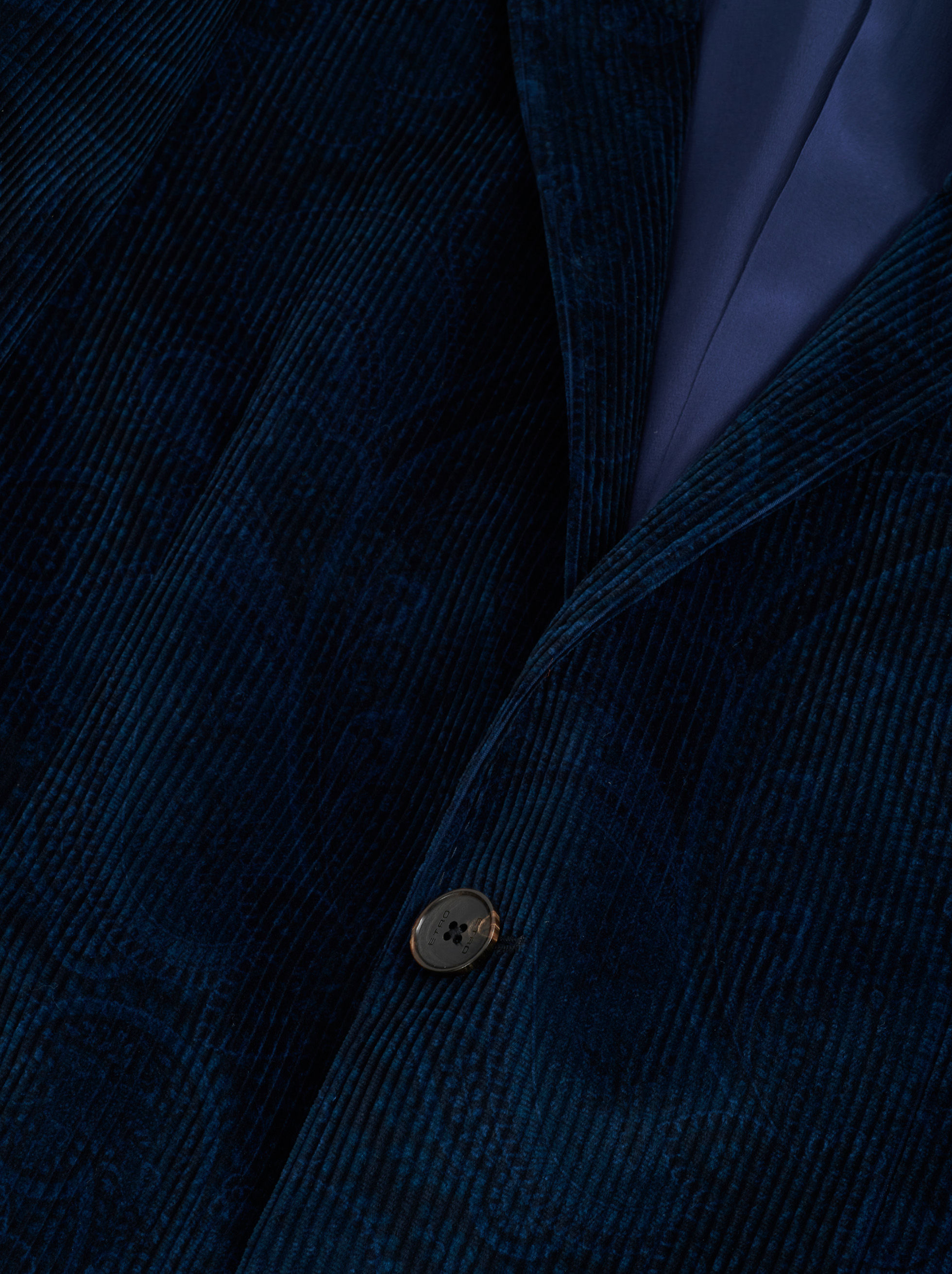 RIBBED VELVET JACKET WITH PAISLEY PATTERNS