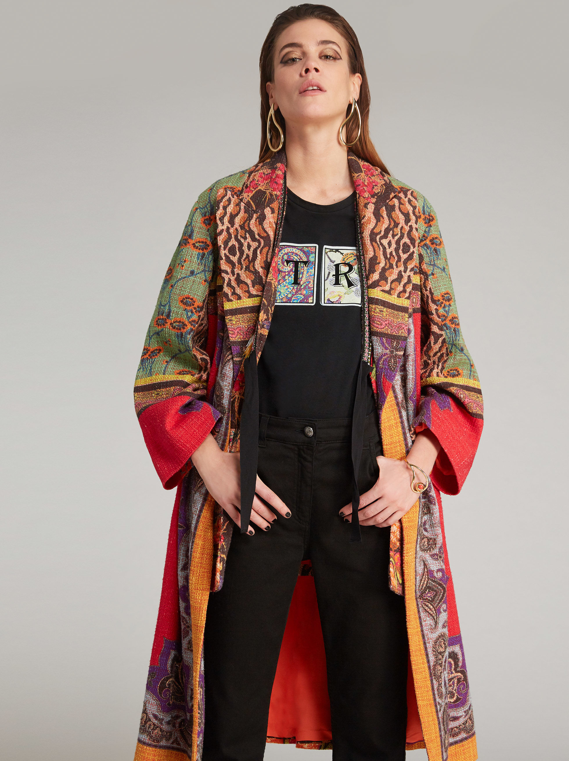 PATCHWORK-PRINT COAT