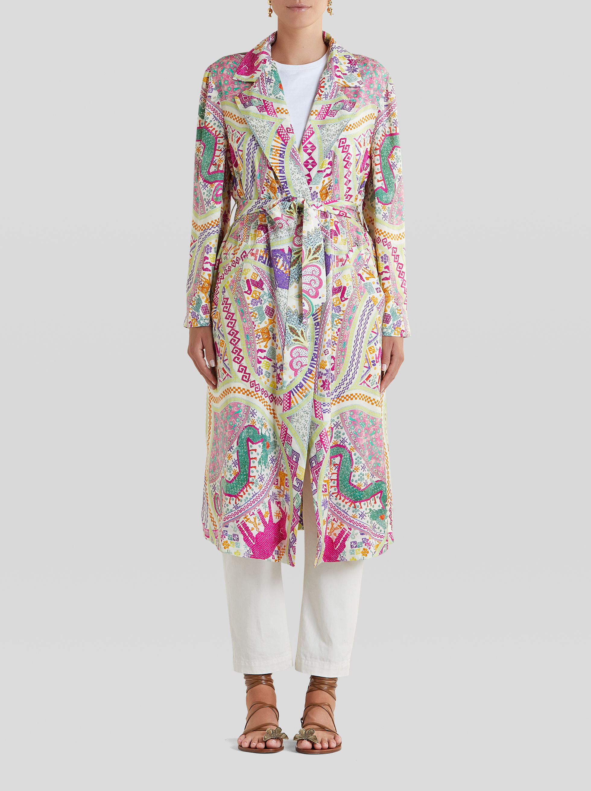 LIGHT NAÏF PRINT COAT