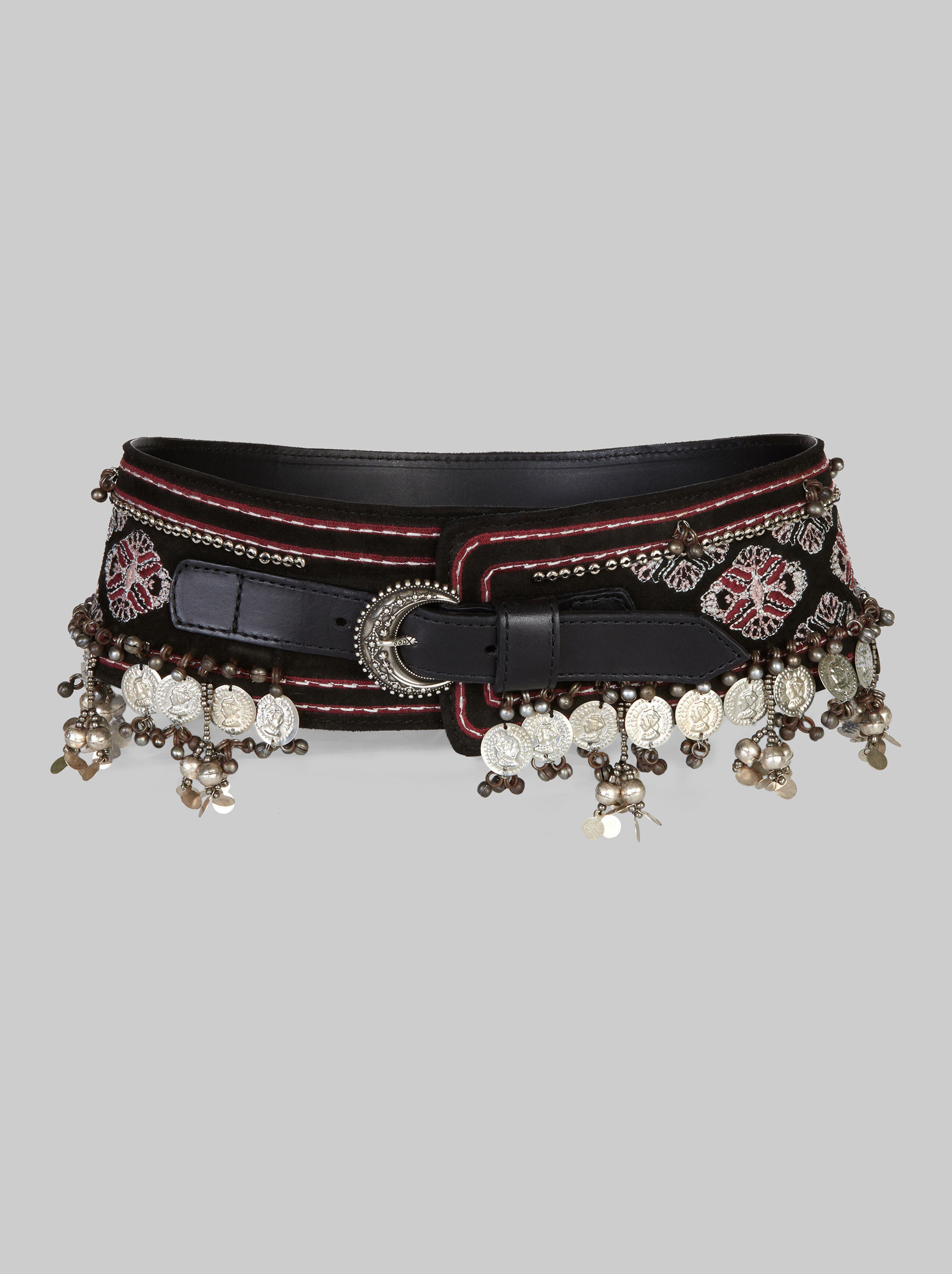 BELT EMBROIDERED WITH COINS