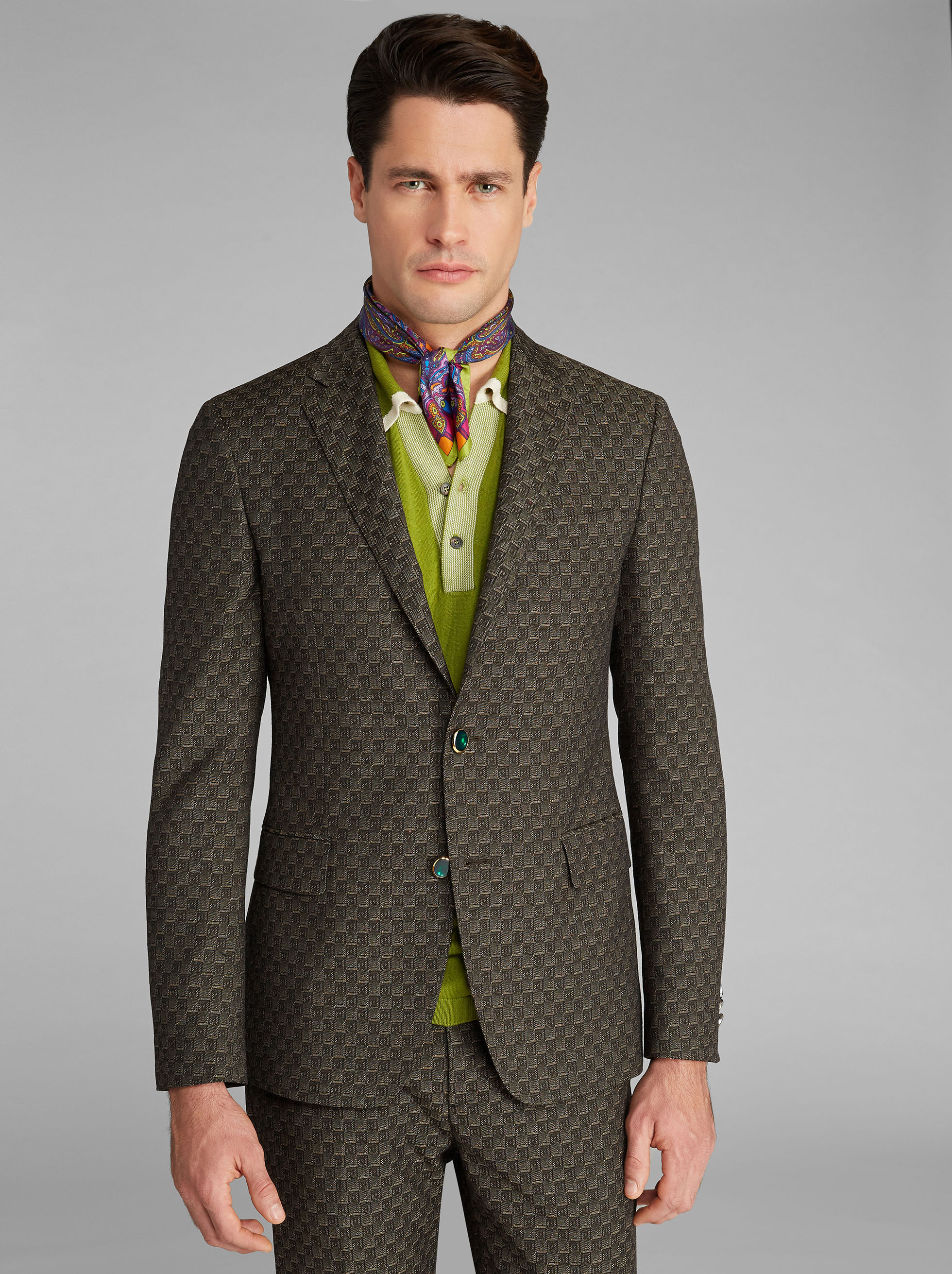 SEMI-TRADITIONAL JACQUARD JACKET