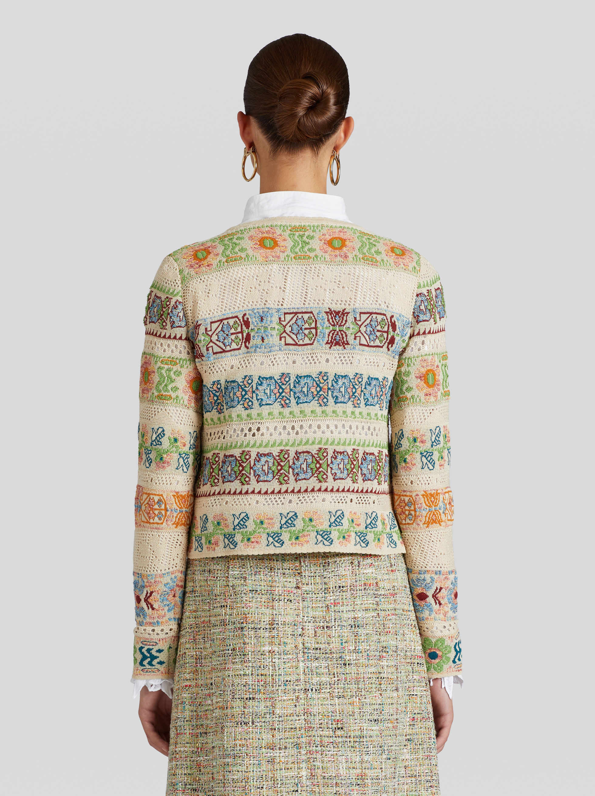 FLOWERED JACQUARD JUMPER