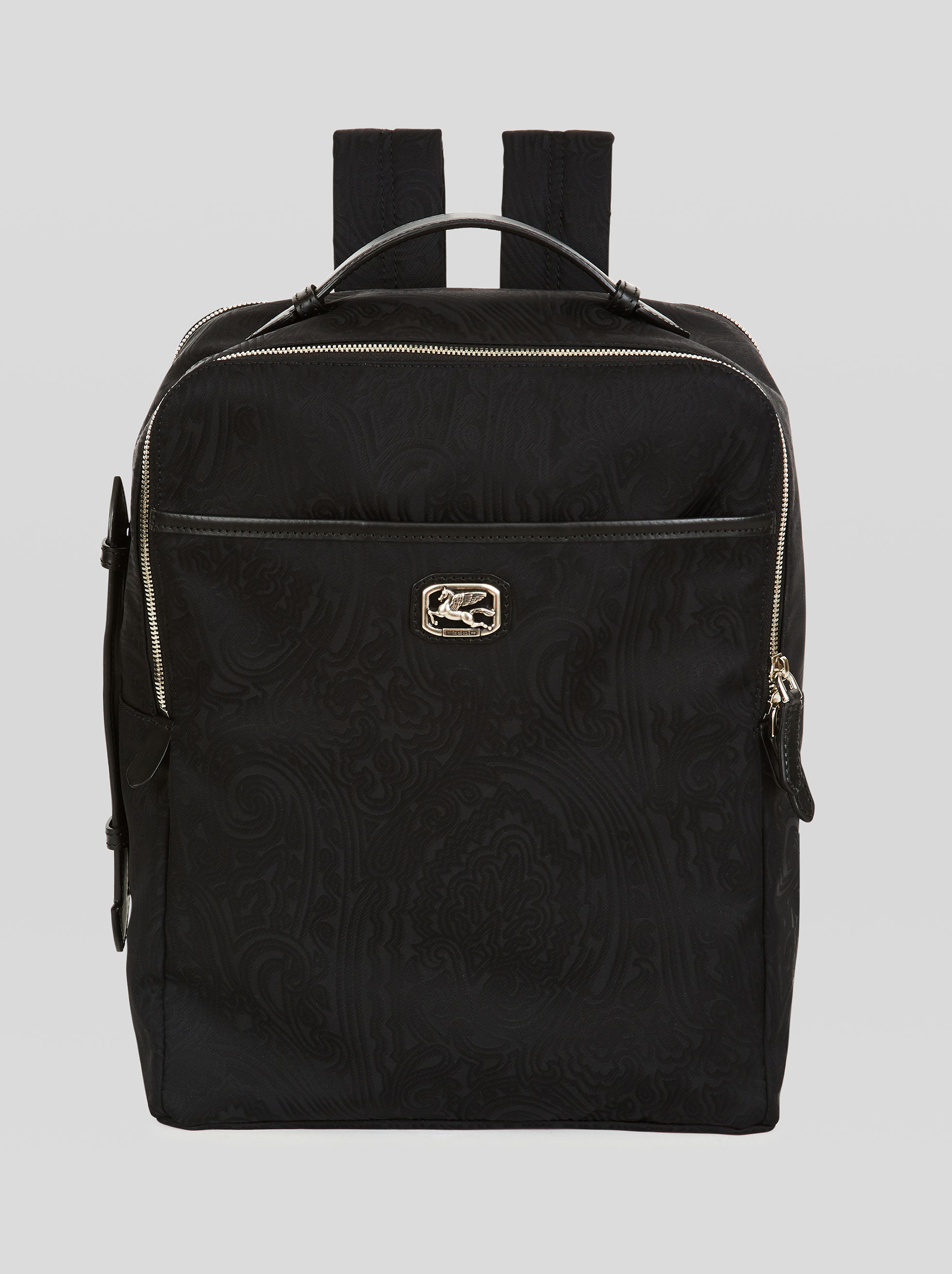 NYLON JACQUARD BACKPACK WITH PEGASO