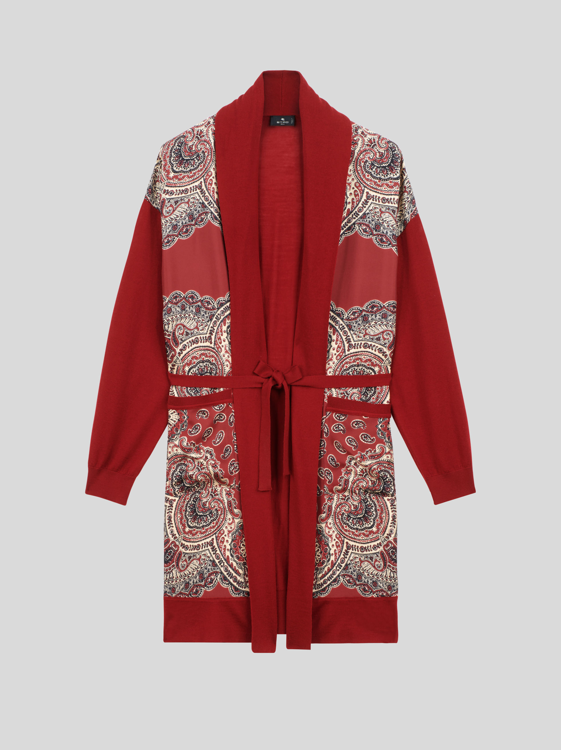 PAISLEY WOOL AND SILK CARDIGAN