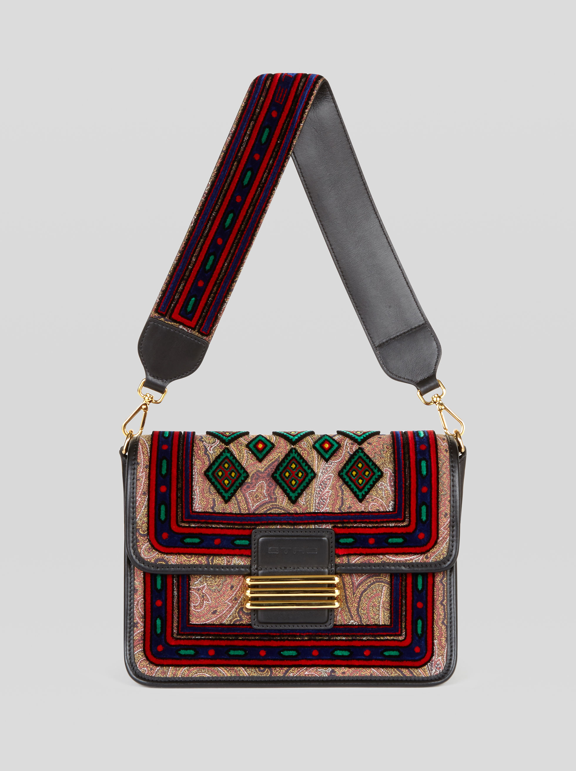 RAINBOW BAG WITH VELVET EMBROIDERY