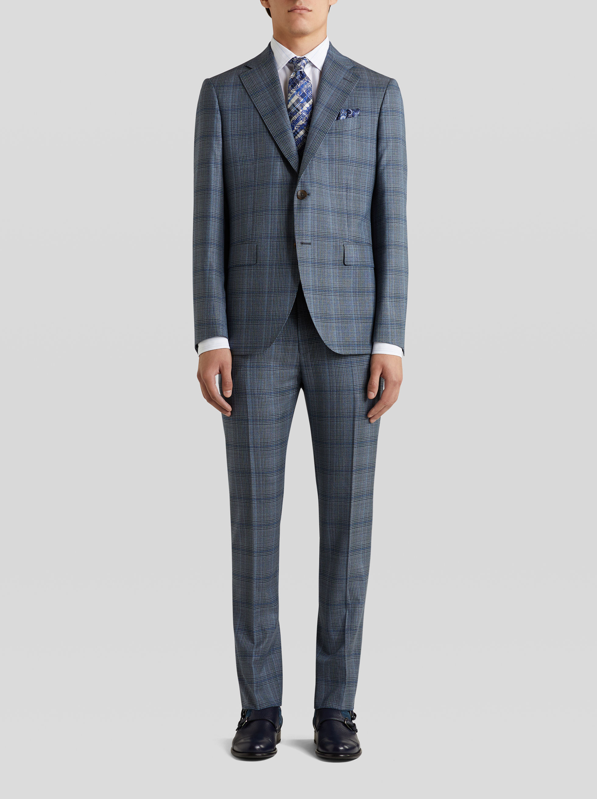 TAILORED SUIT WITH CHECK DESIGN