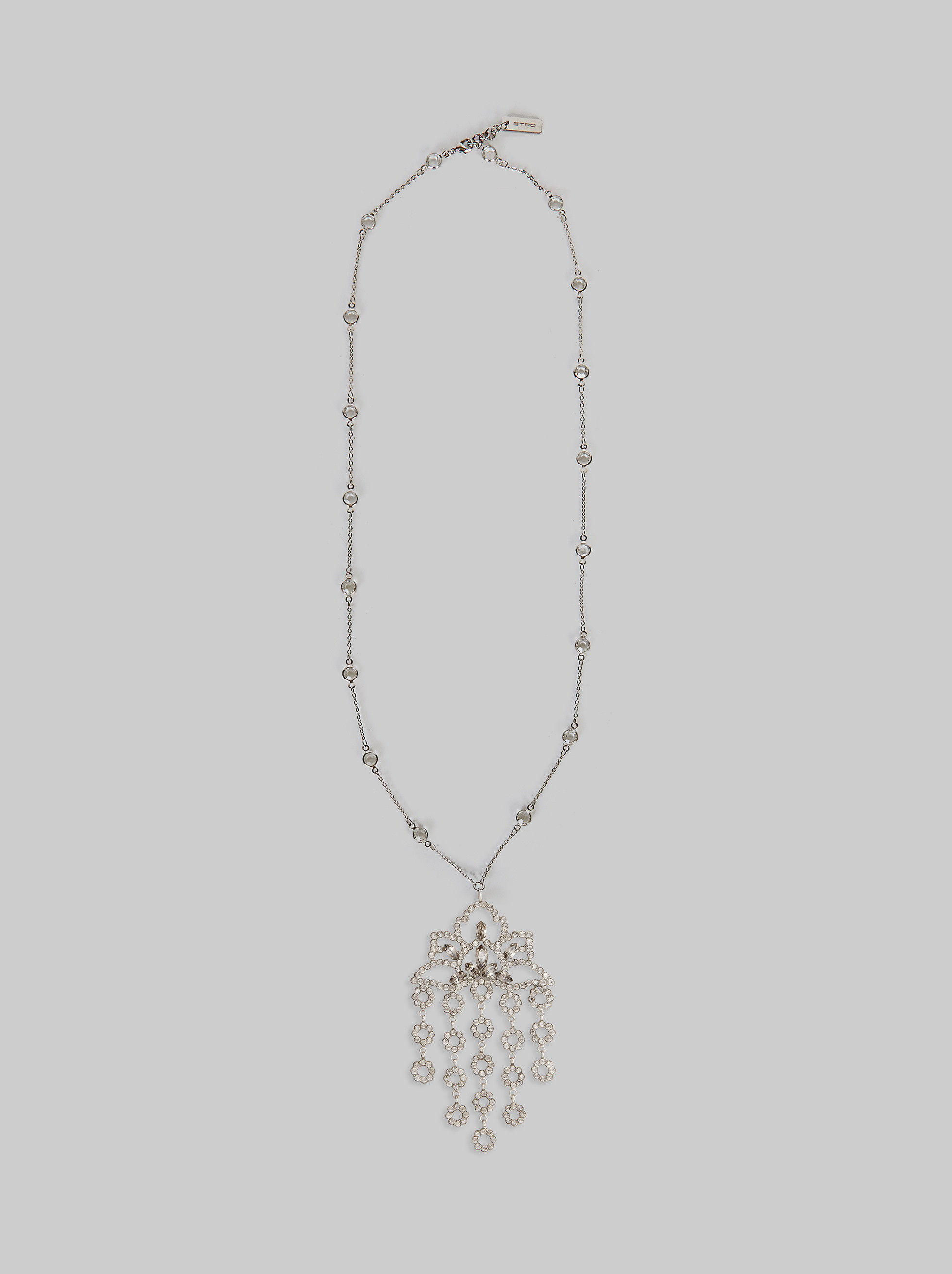 NECKLACE WITH CHANDELIER PENDANT