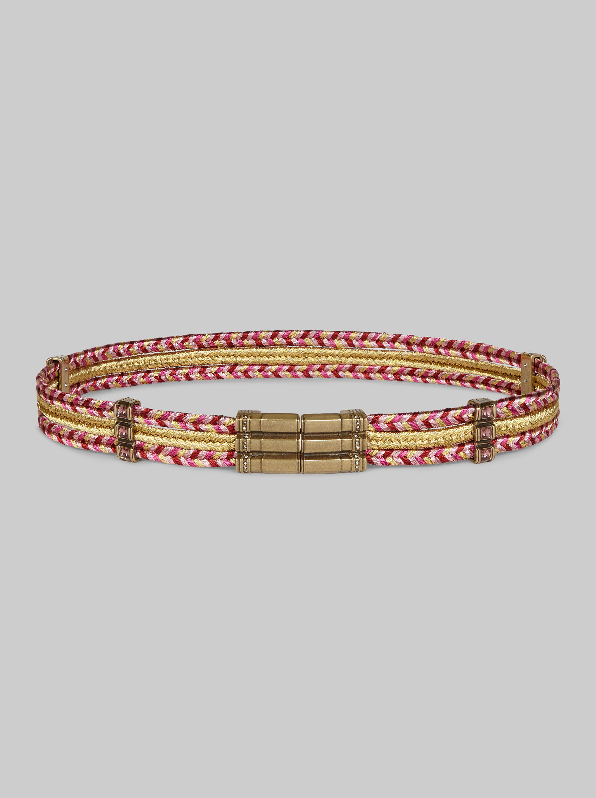 TEXTILE BELT WITH JEWELLED DETAILING