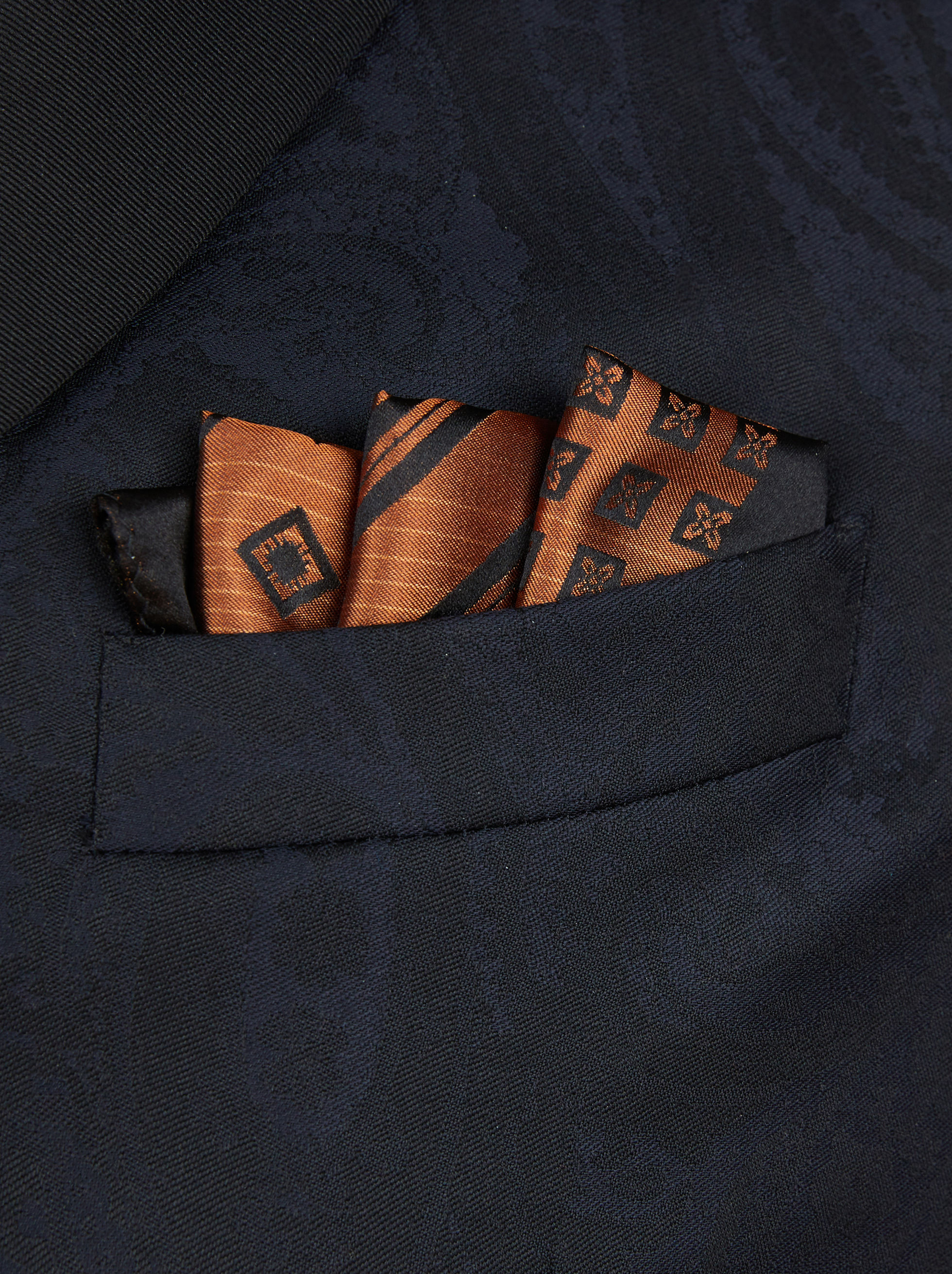 PATCHWORK POCKET HANDKERCHIEF