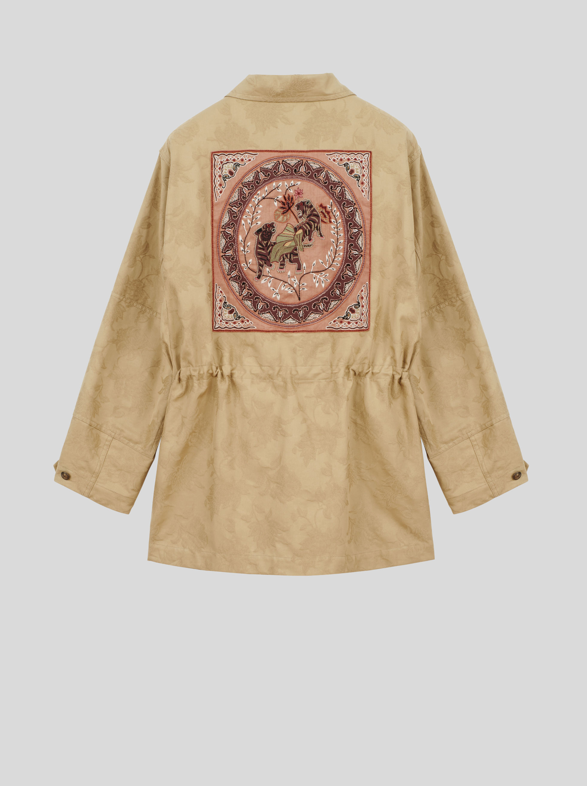 COTTON JACKET WITH EMBROIDERY