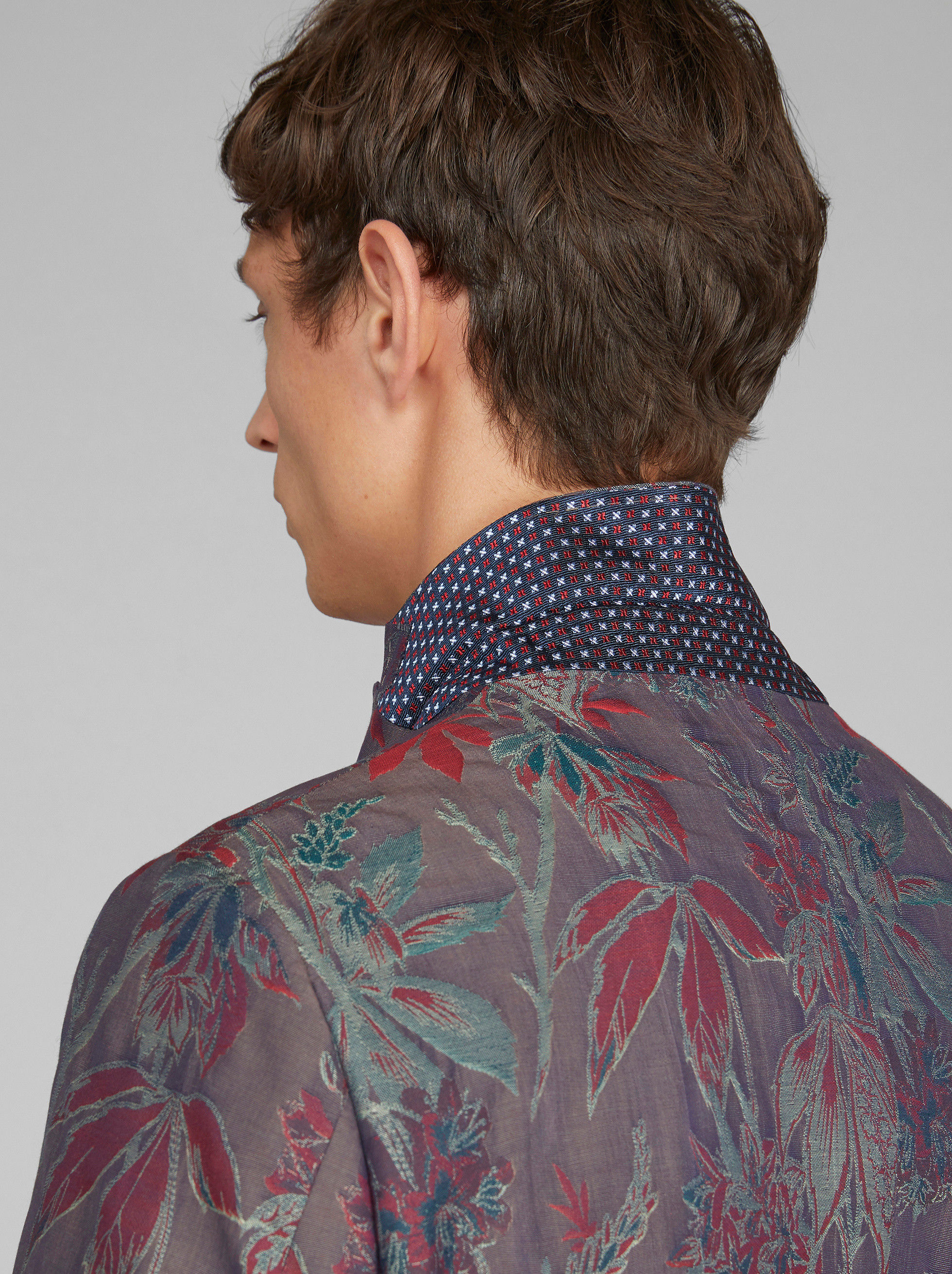FLORAL JACQUARD TAILORED JACKET