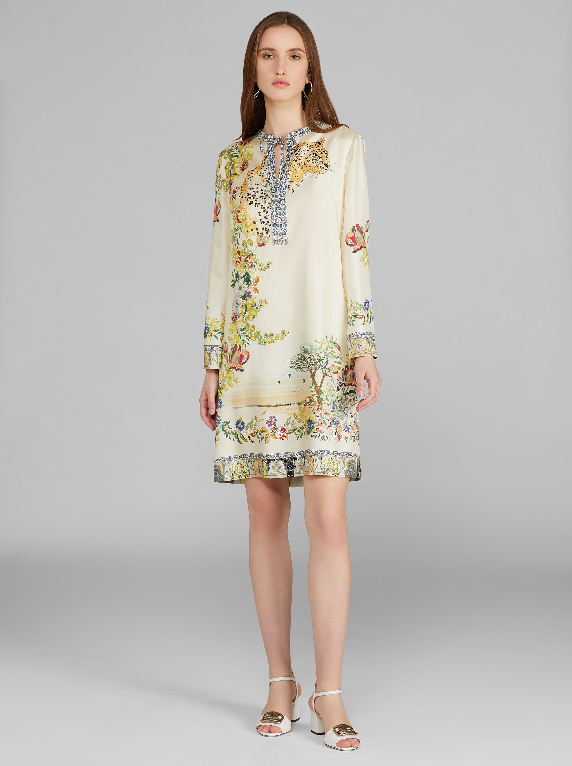 DESERT MIRAGES PRINT TUNIC DRESS