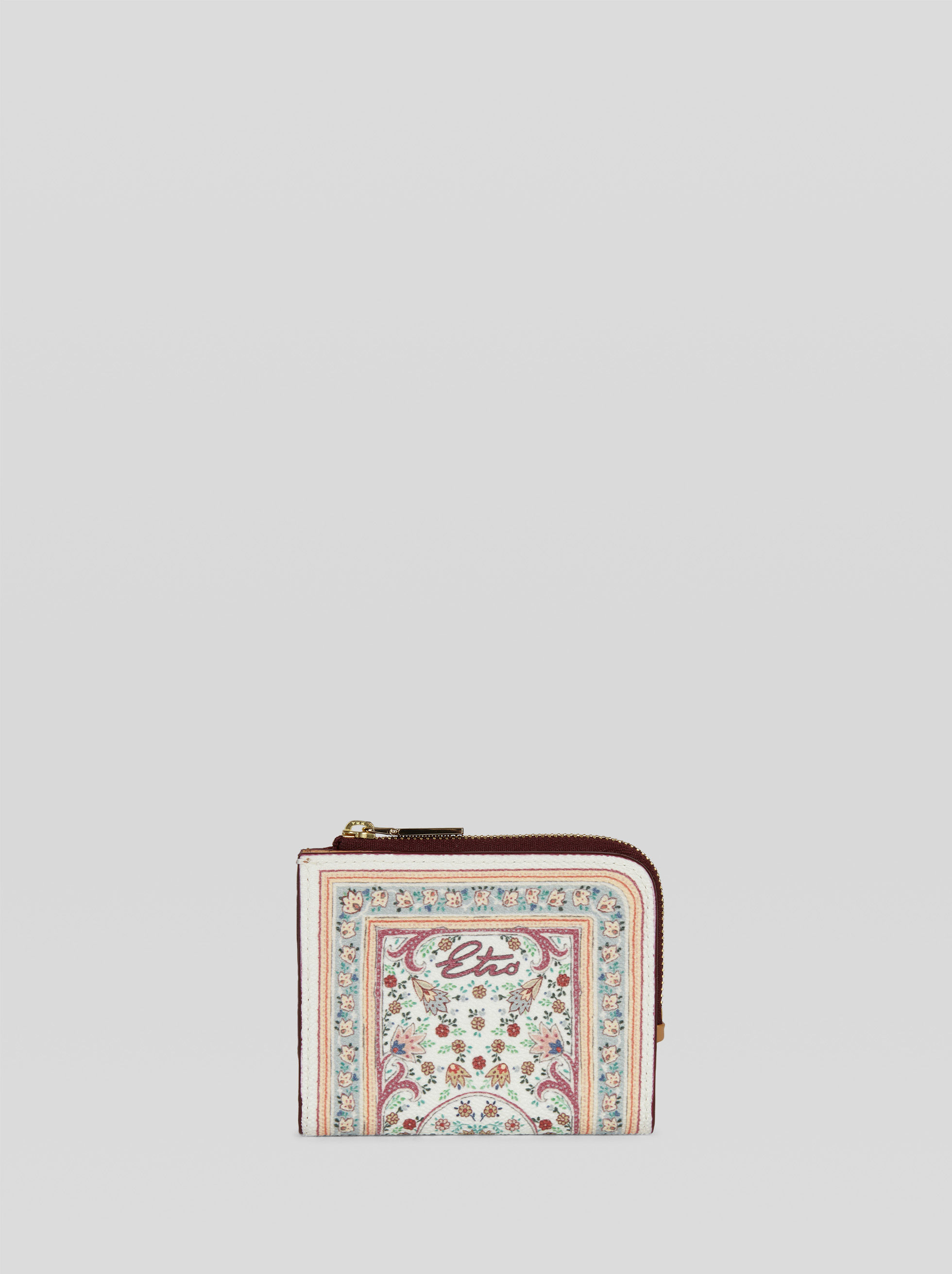 PURSE WITH FLORAL PAISLEY PRINT