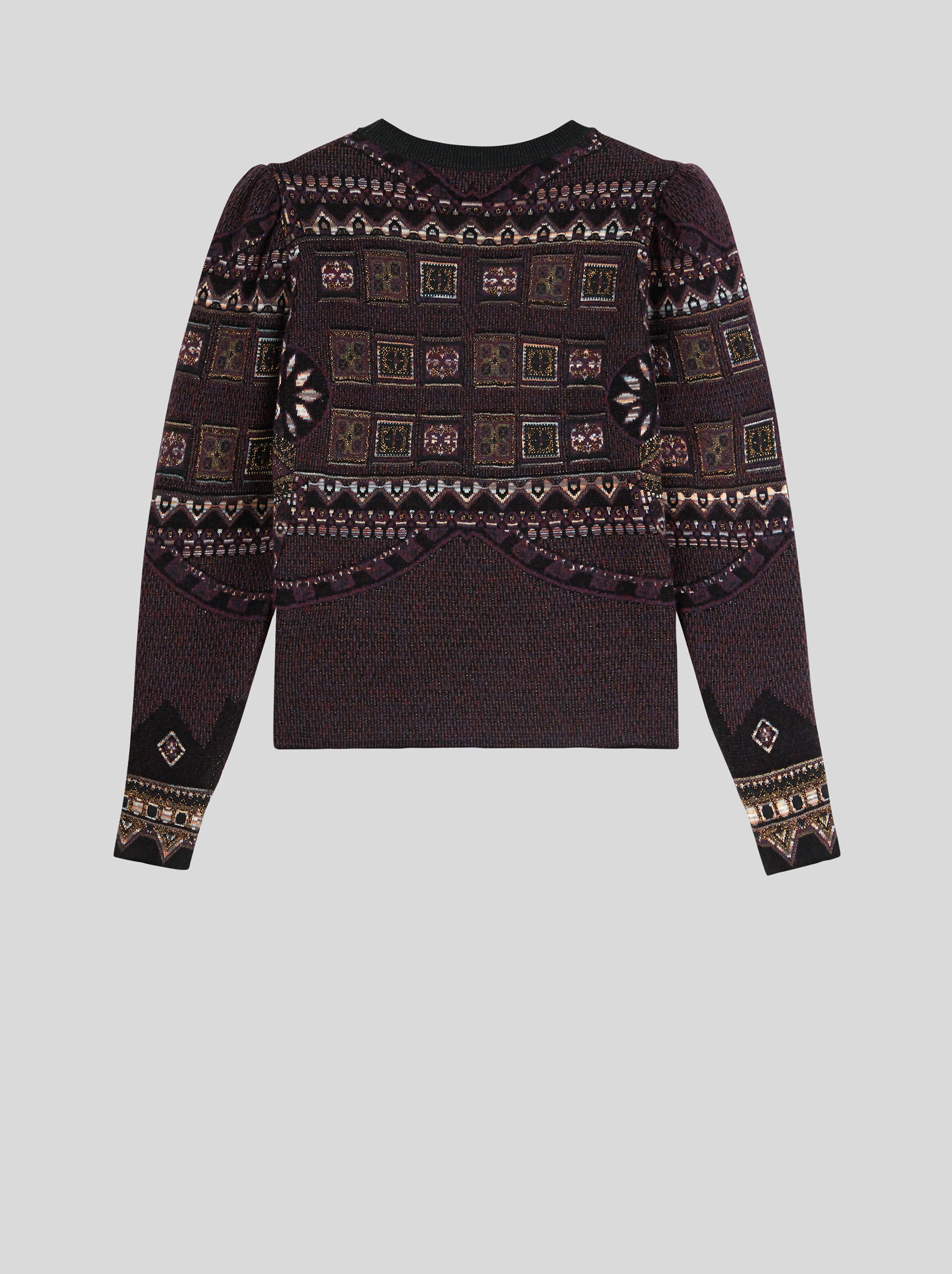 PATCHWORK PATTERN JACQUARD JUMPER