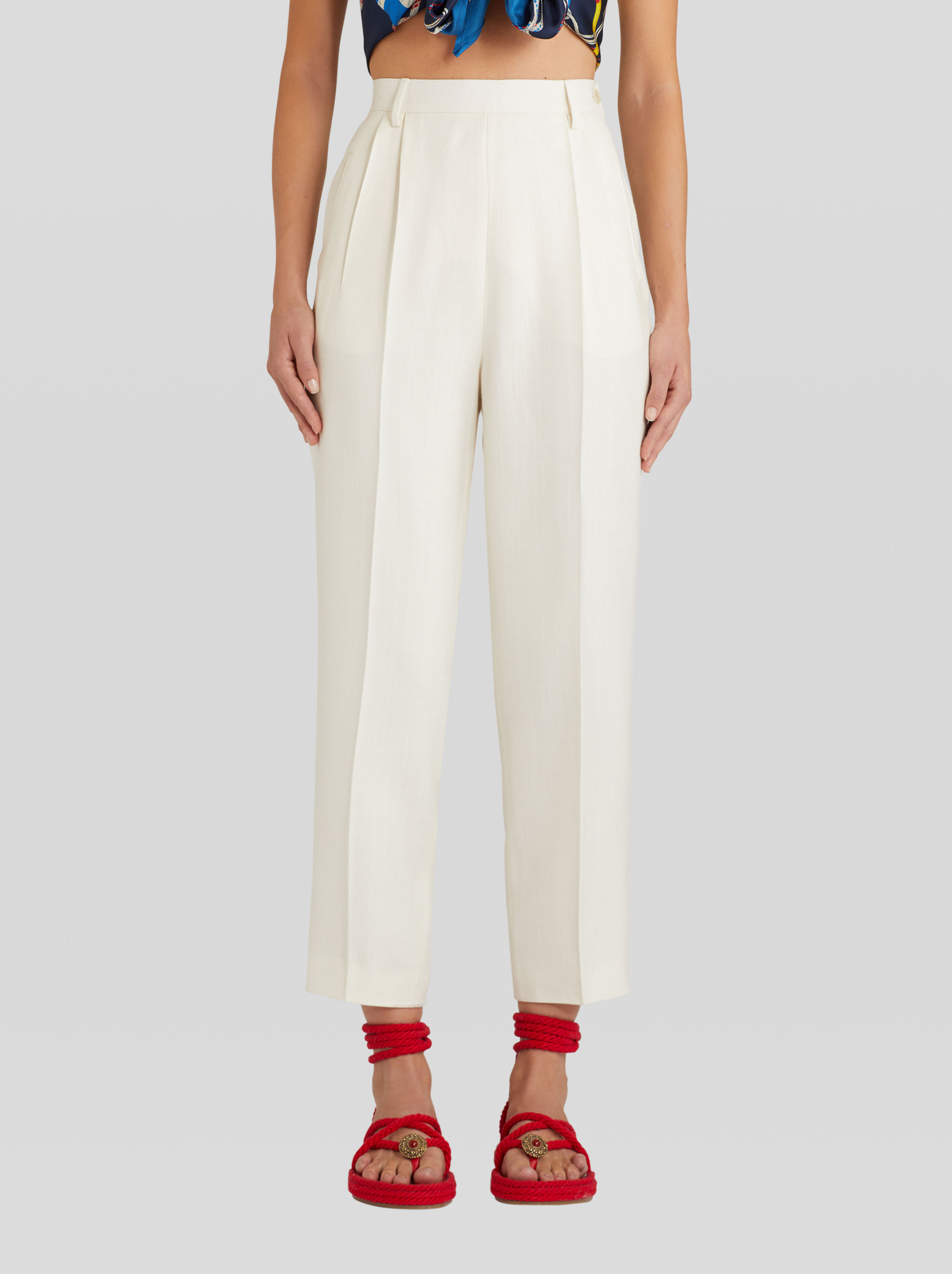 VISCOSE TAILORED TROUSERS