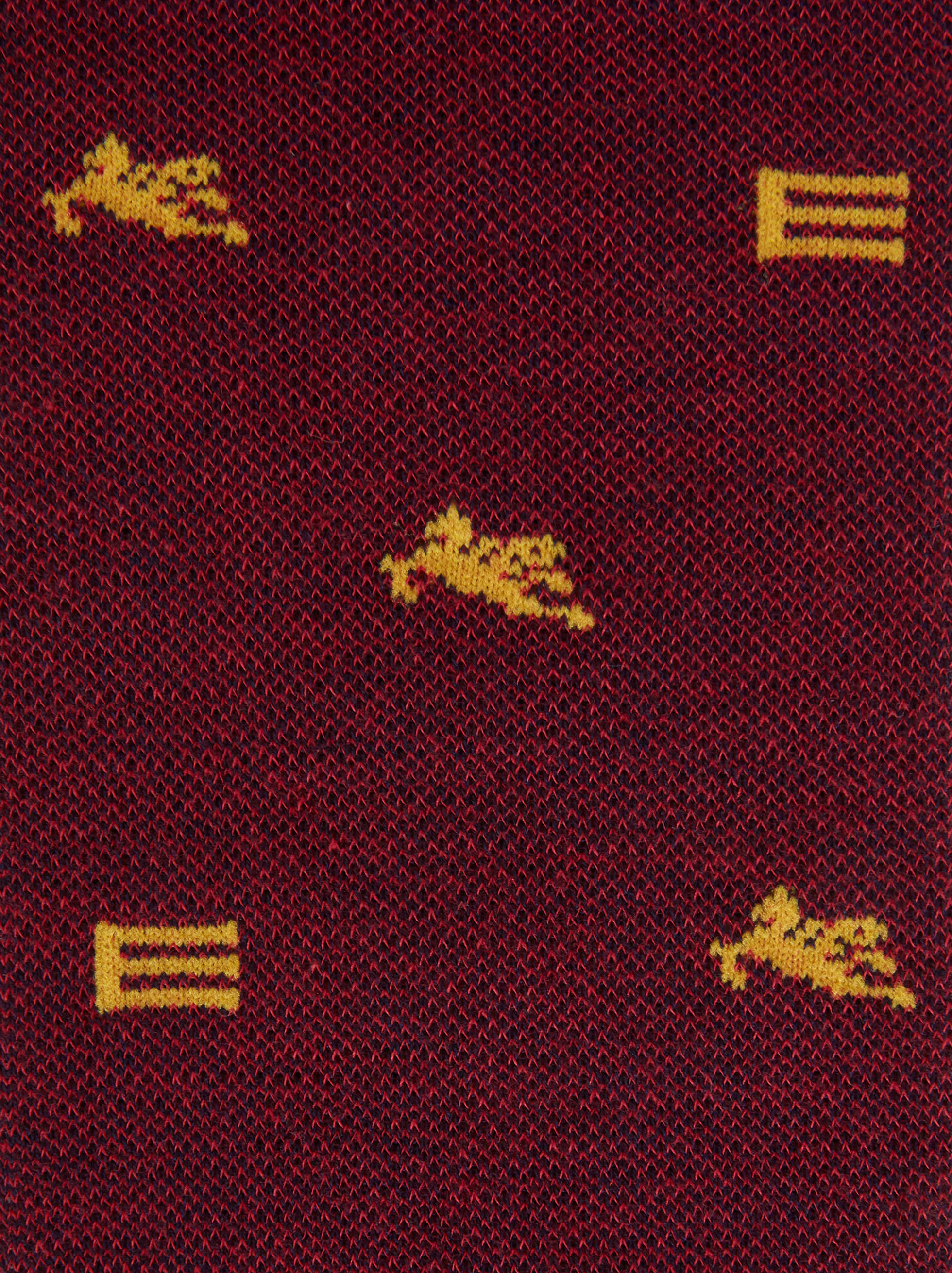 JACQUARD SOCKS WITH LOGO AND PEGASO