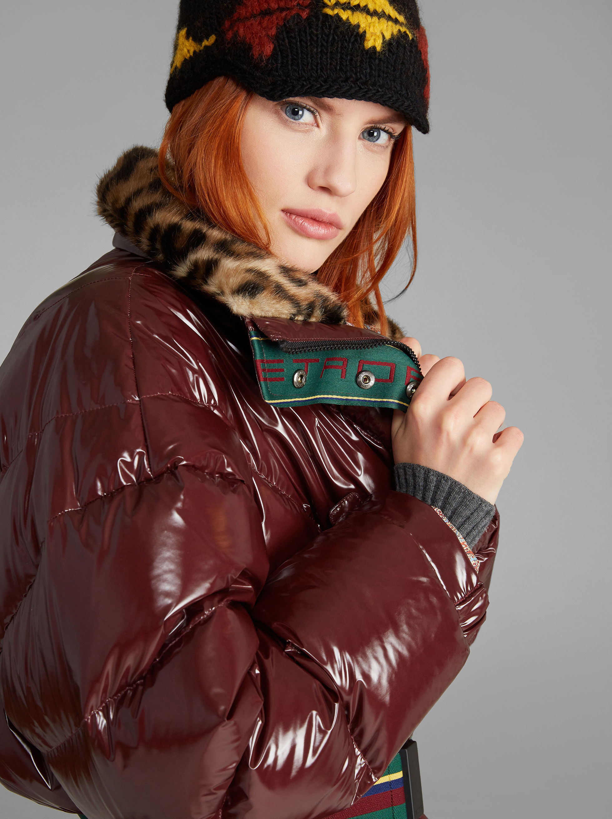 LONG DOWN JACKET WITH ECO-FUR COLLAR