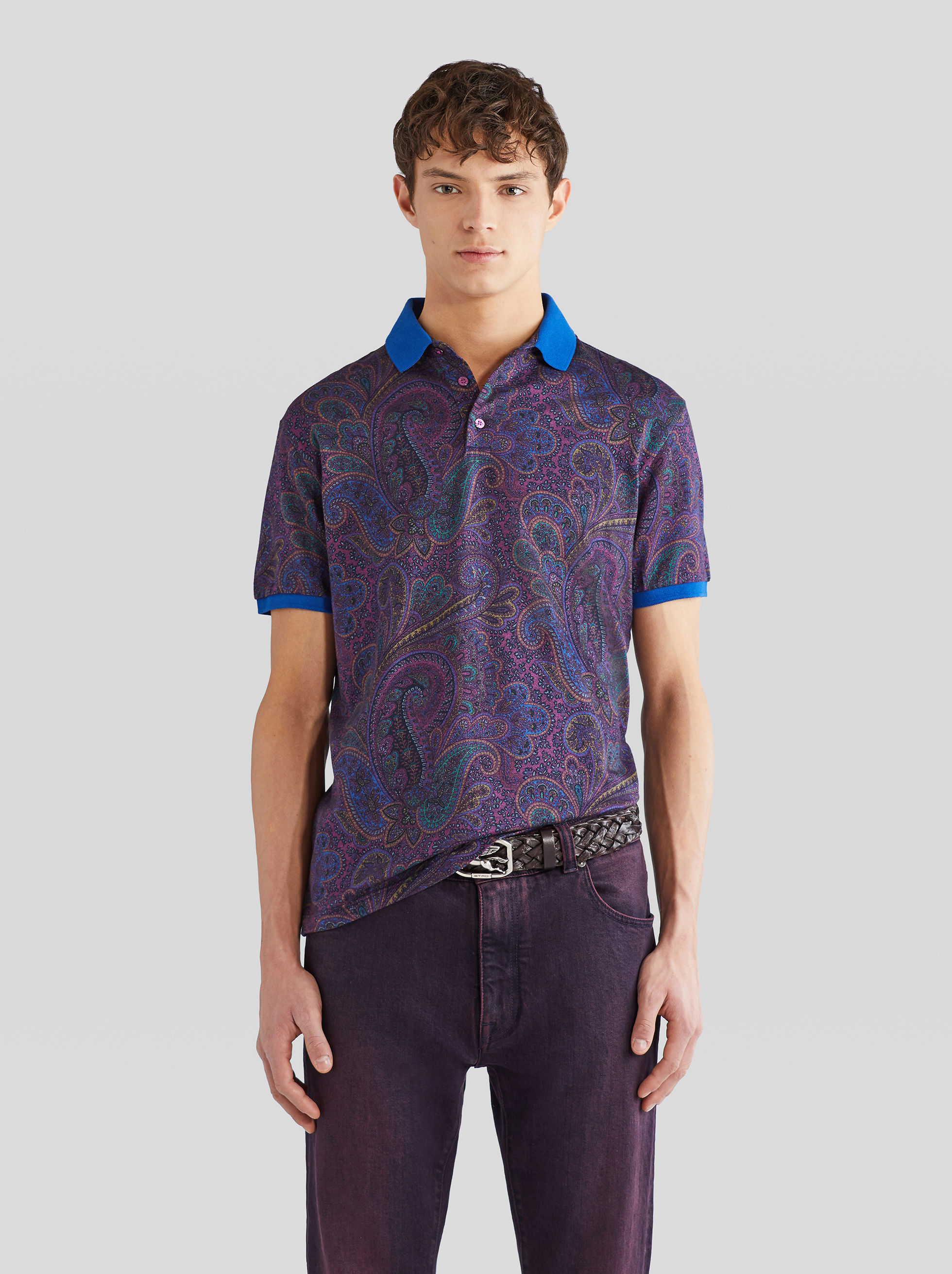 COTTON AND CASHMERE POLO SHIRT