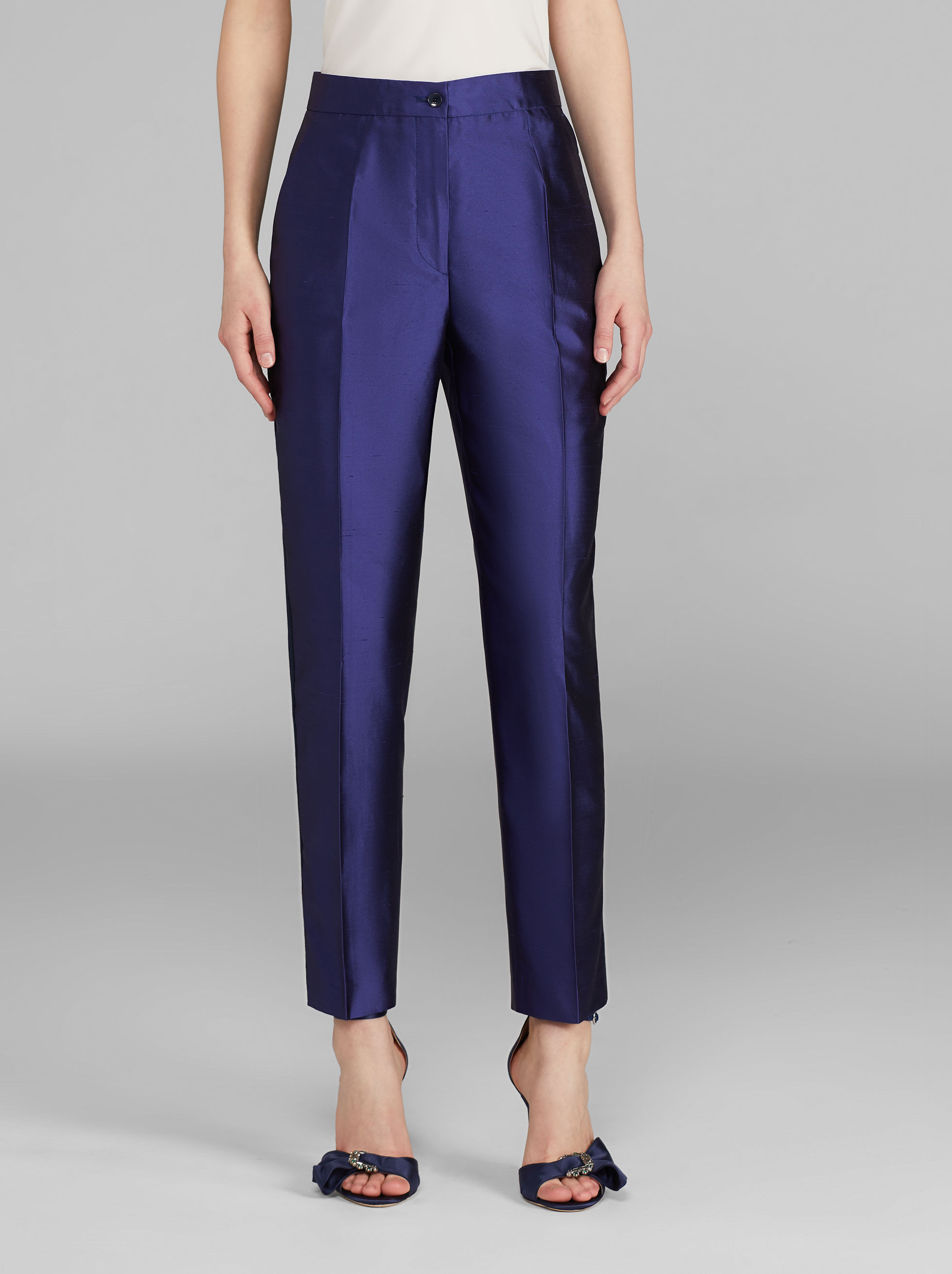 SILK TAILORED TROUSERS
