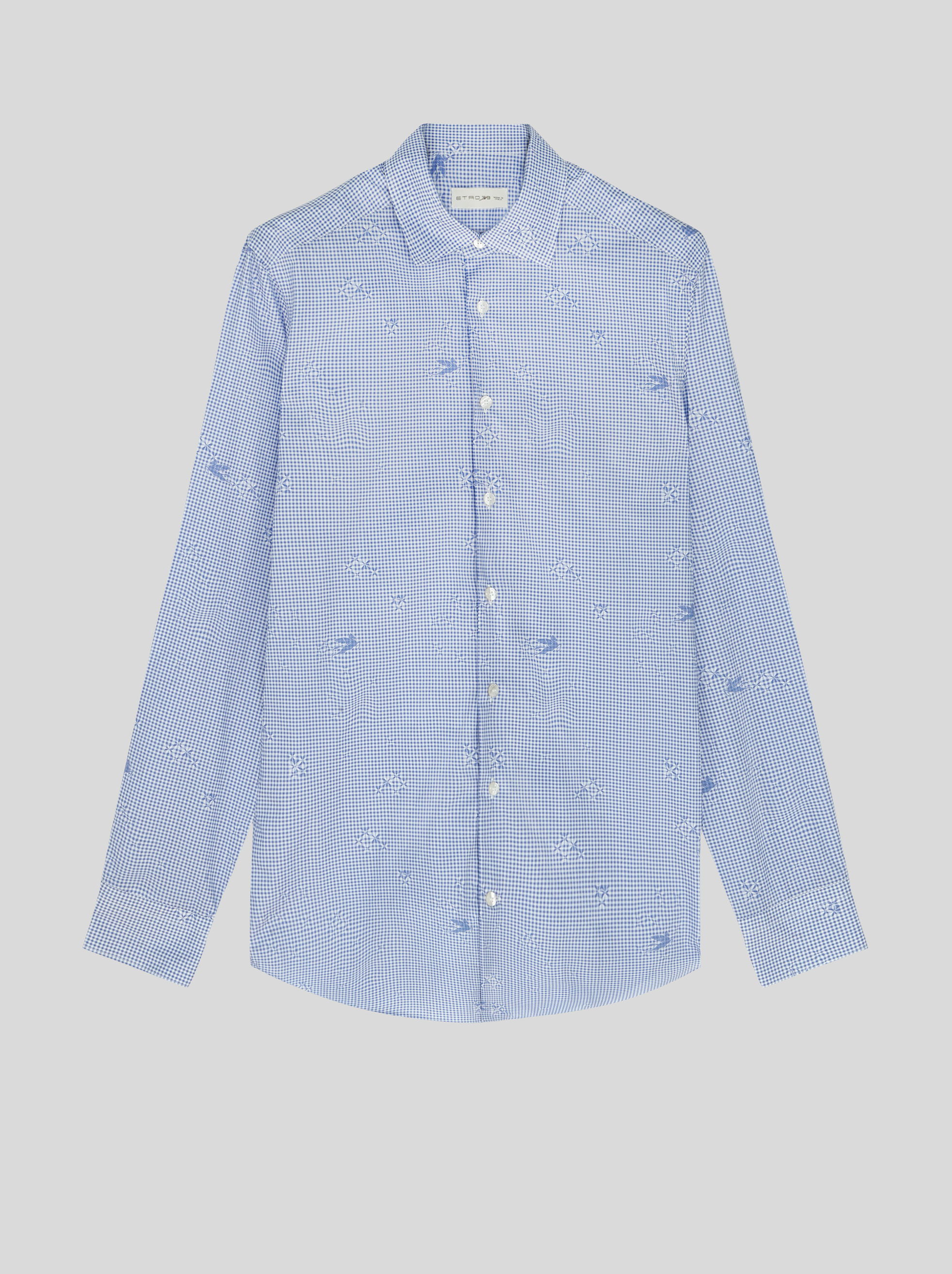 CHECK COTTON SHIRT WITH PEGASO