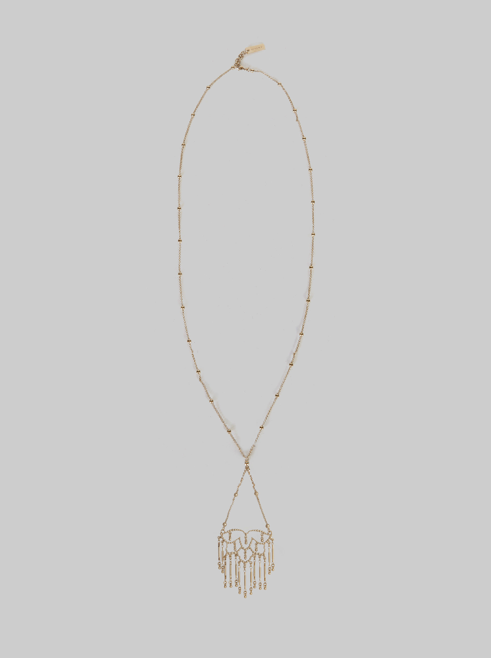 NECKLACE WITH CHANDELIER CHARM