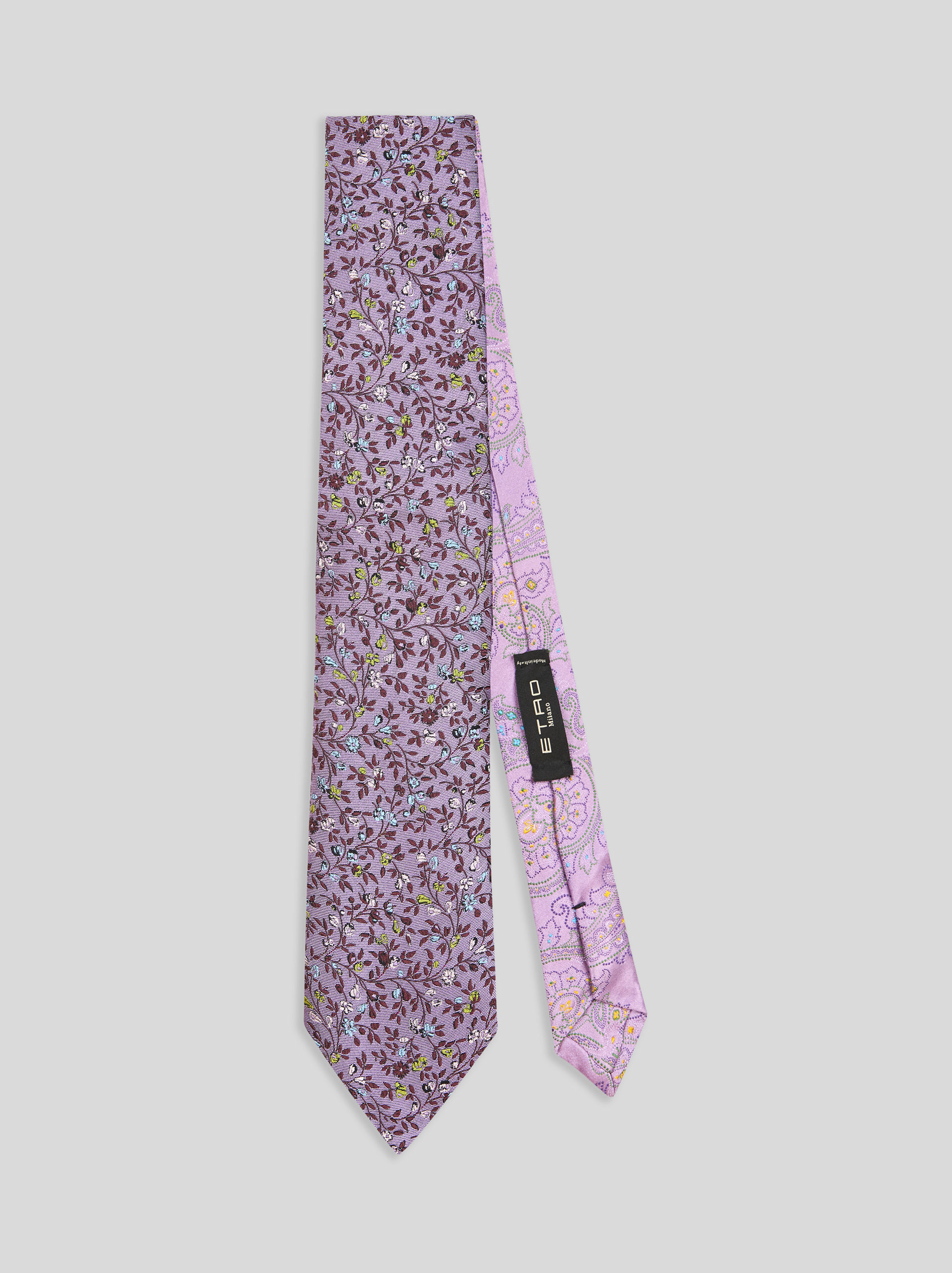 FLORAL PAISLEY TWO-FBRIC TIE