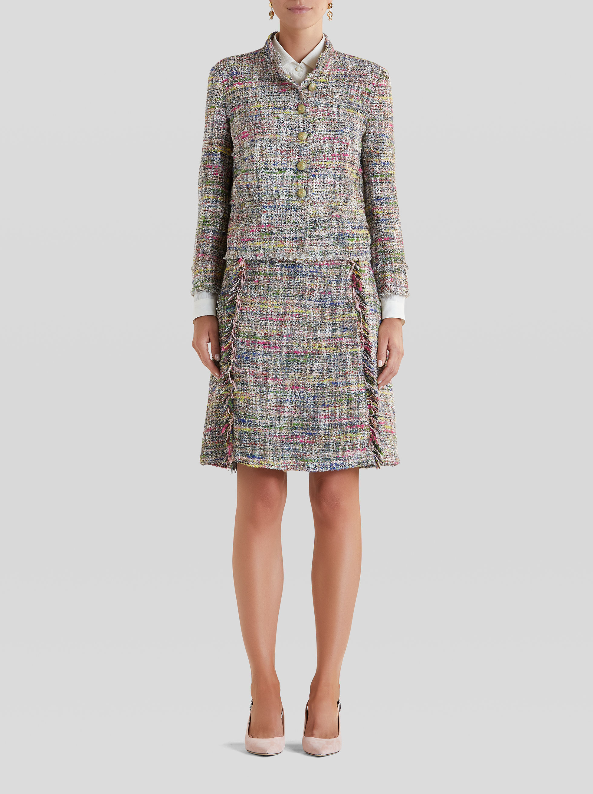 BOUCLÉ FABRIC TAILORED JACKET