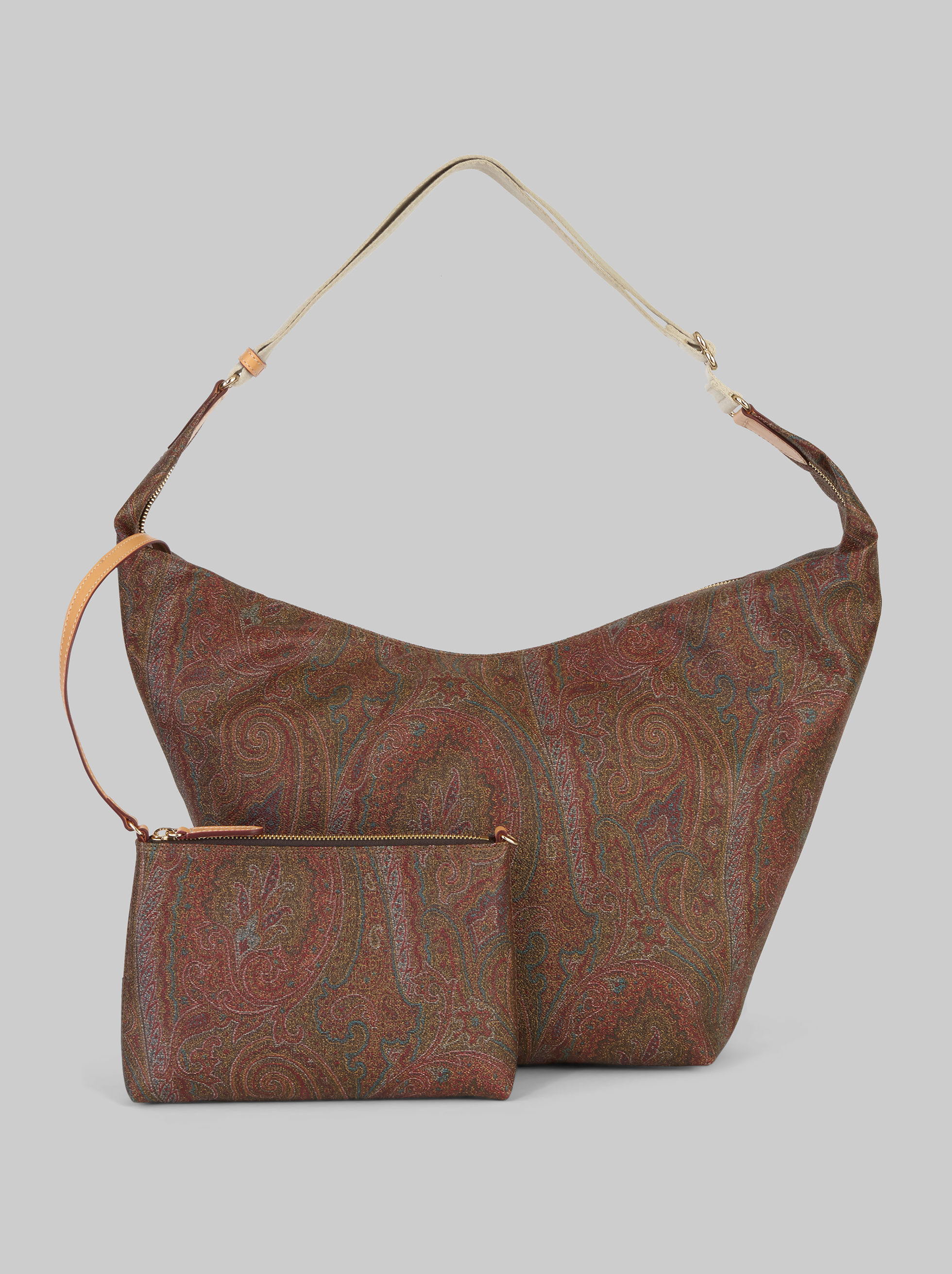 PAISLEY SHOULDER BAG WITH CLUTCH