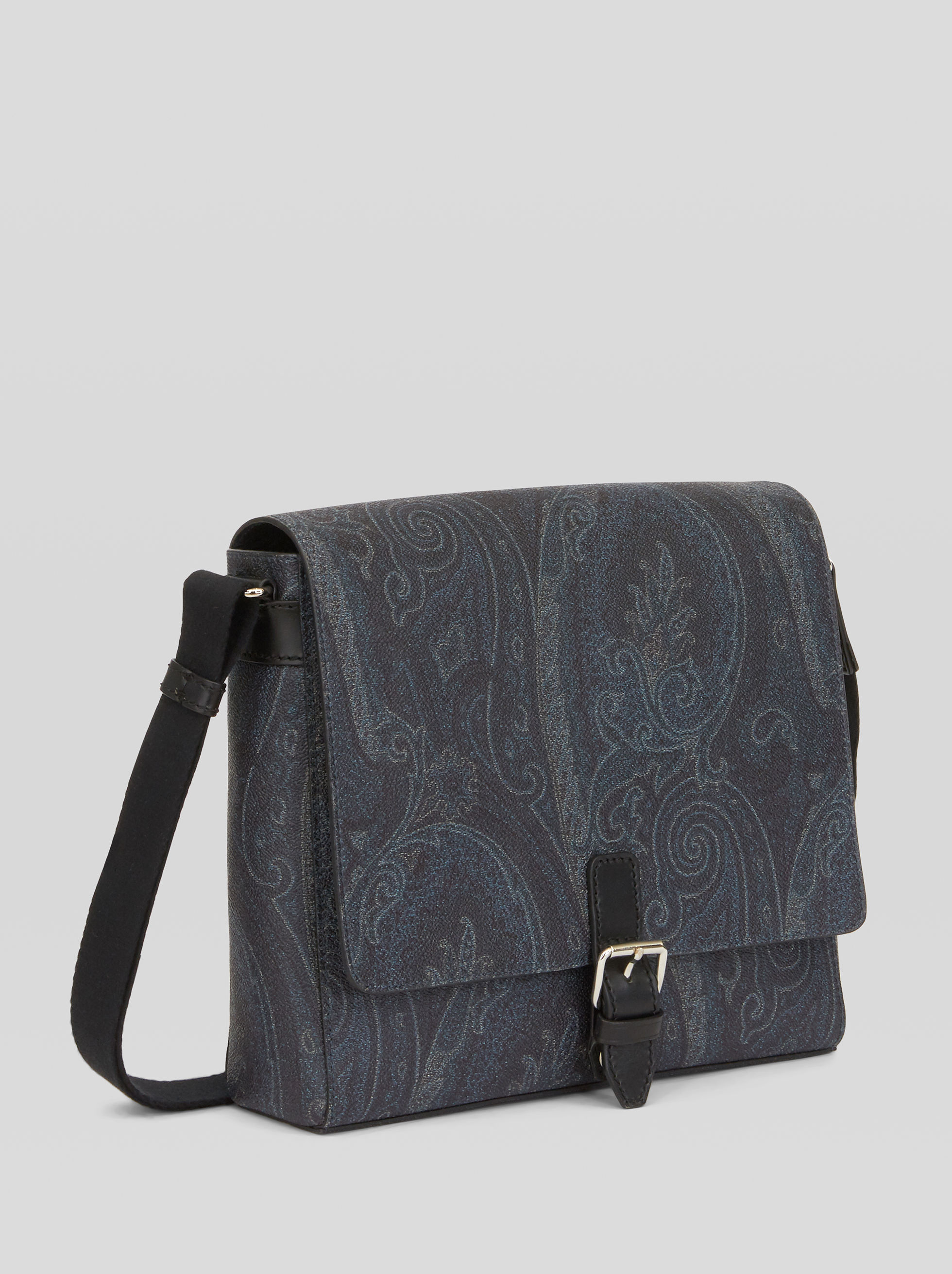 SHOULDER BAG WITH PAISLEY DESIGNS