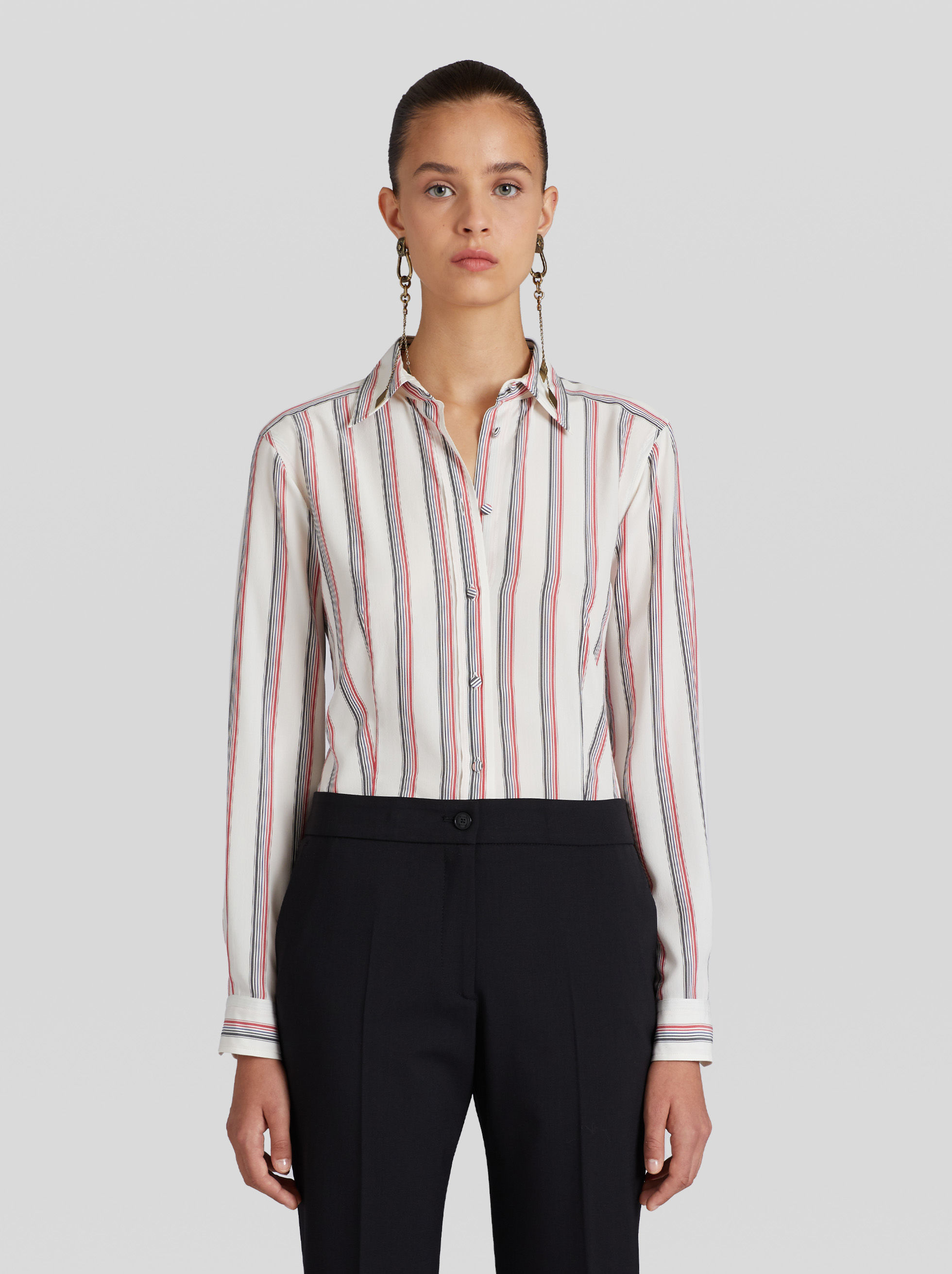 STRIPED SILK SHIRT