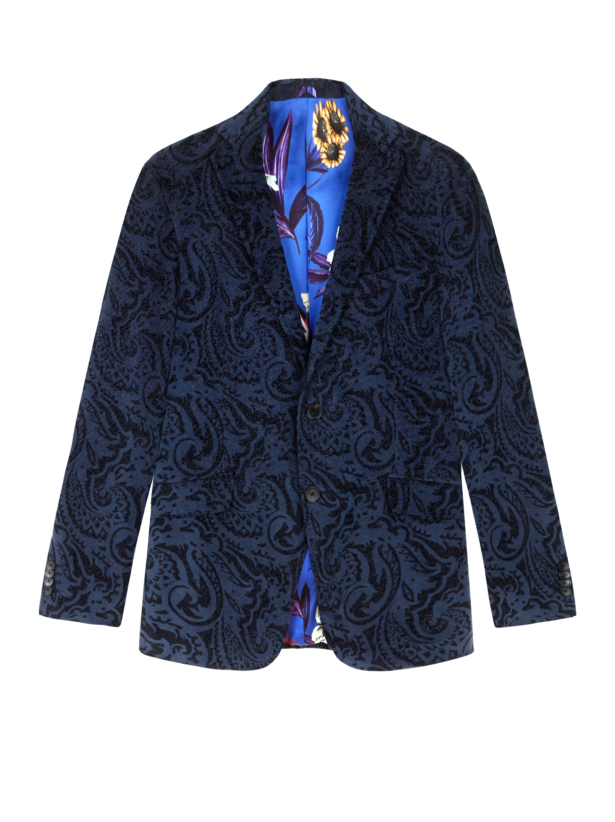 PAISLEY VELVET TAILORED JACKET