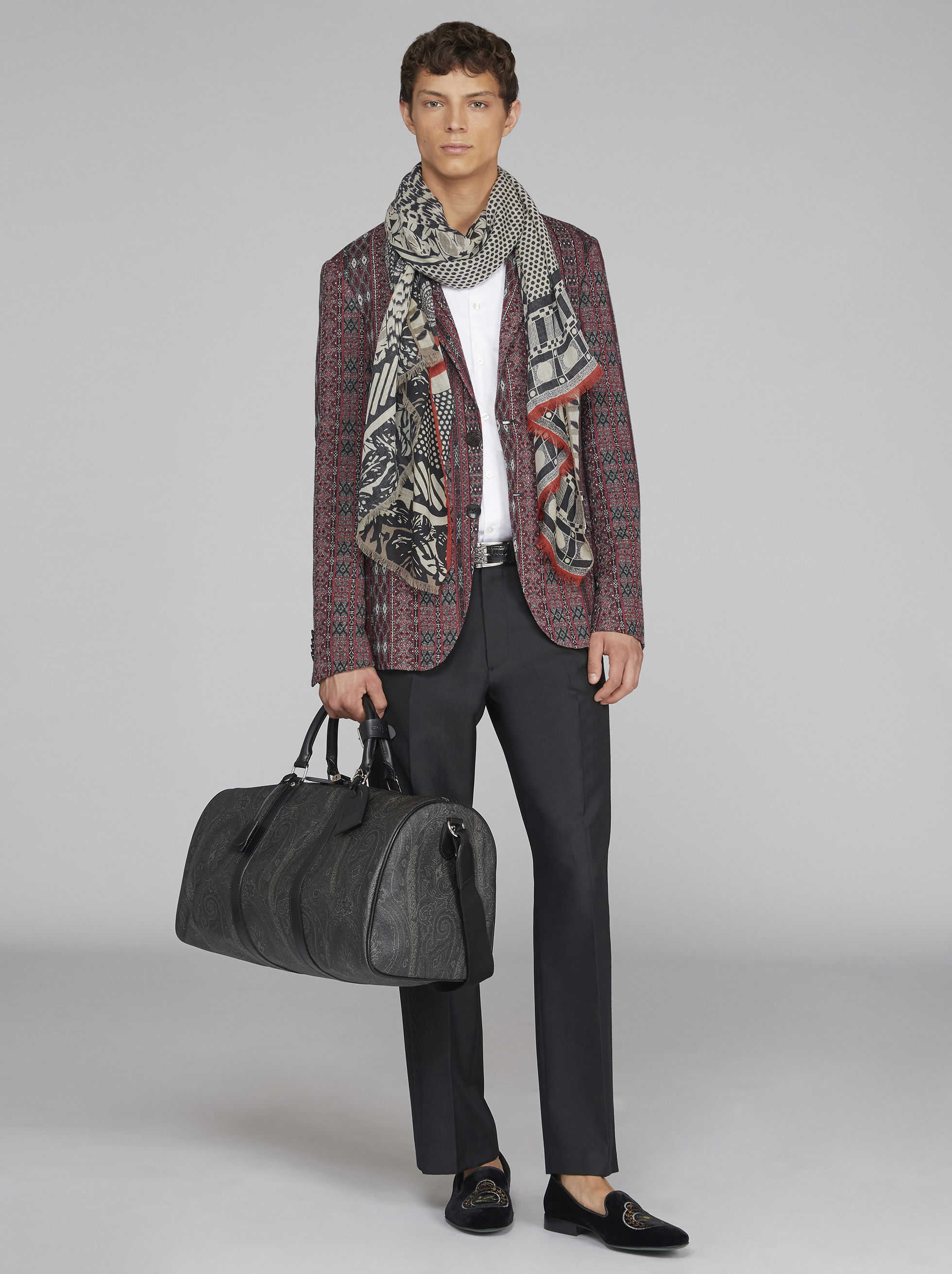 PAISLEY TRAVEL BAG WITH SHOULDER STRAP