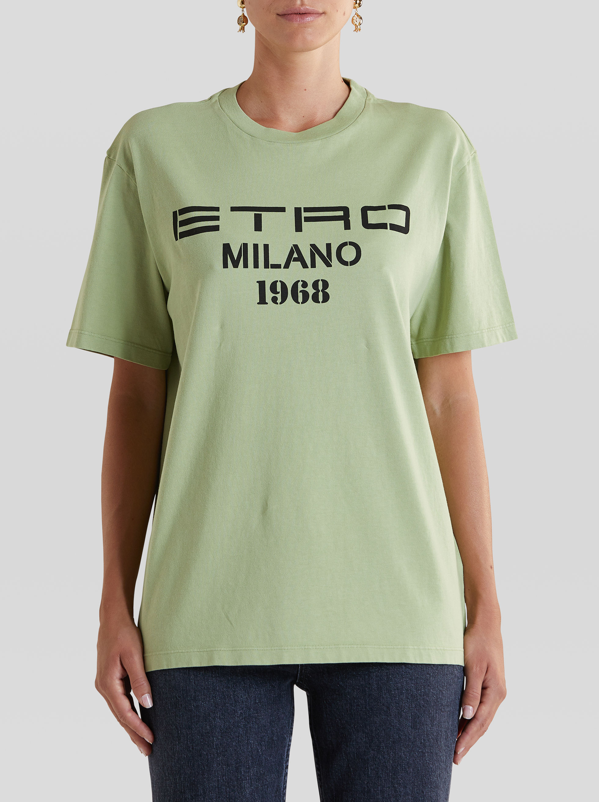 T-SHIRT WITH ETRO MILANO LOGO