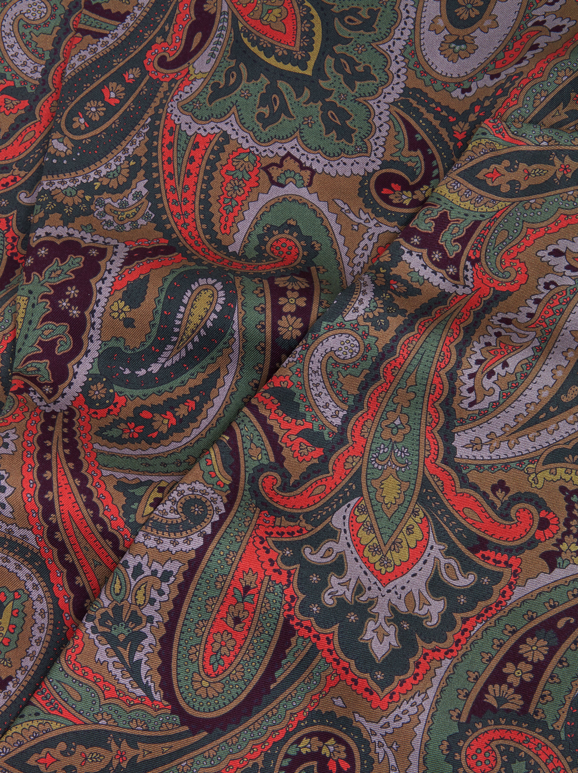 SILK SCARF WITH PAISLEY PRINT