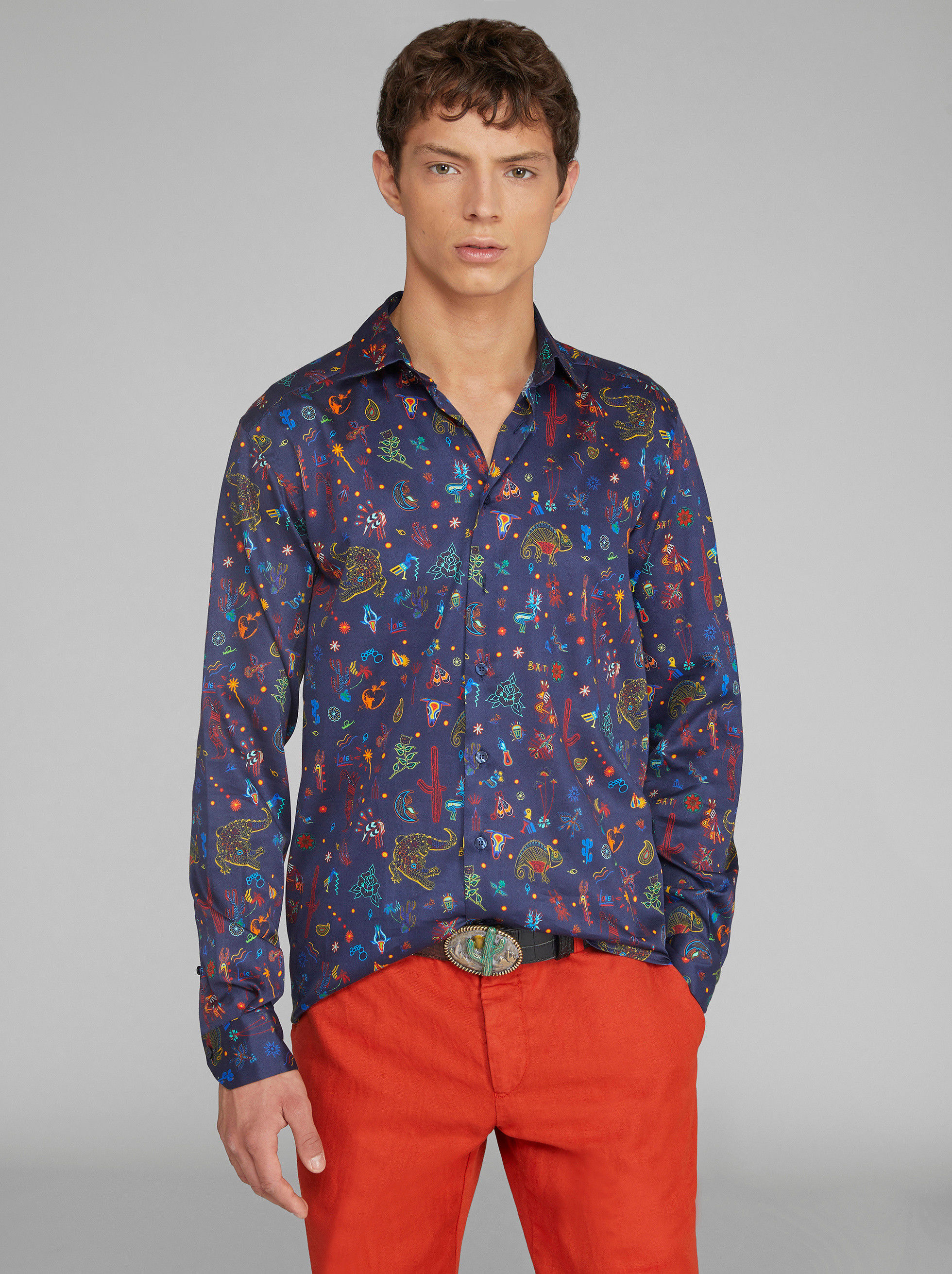 MEXICAN PRINT COTTON SHIRT
