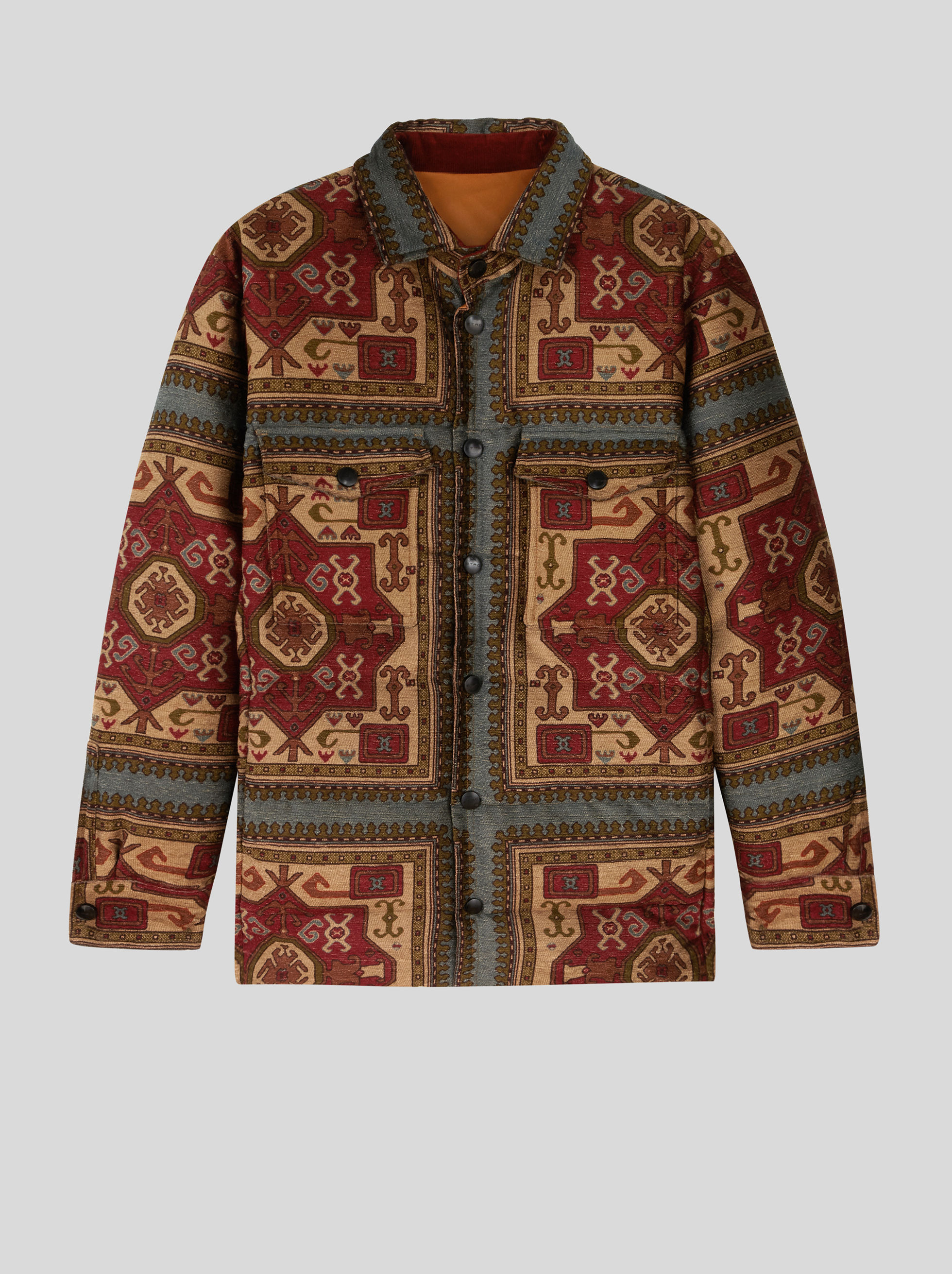 CARPET PRINT CHENILLE DOWN JACKET