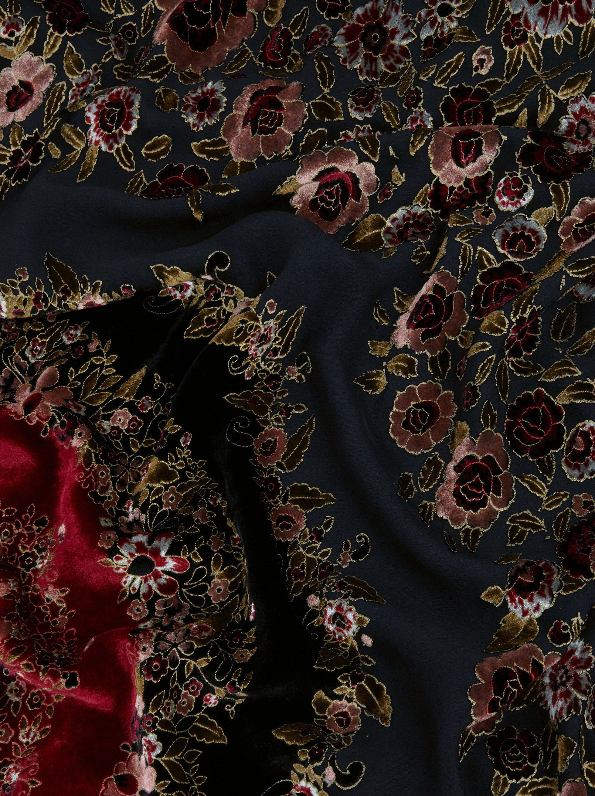 FLORAL DEVORÉ VELVET DRESS