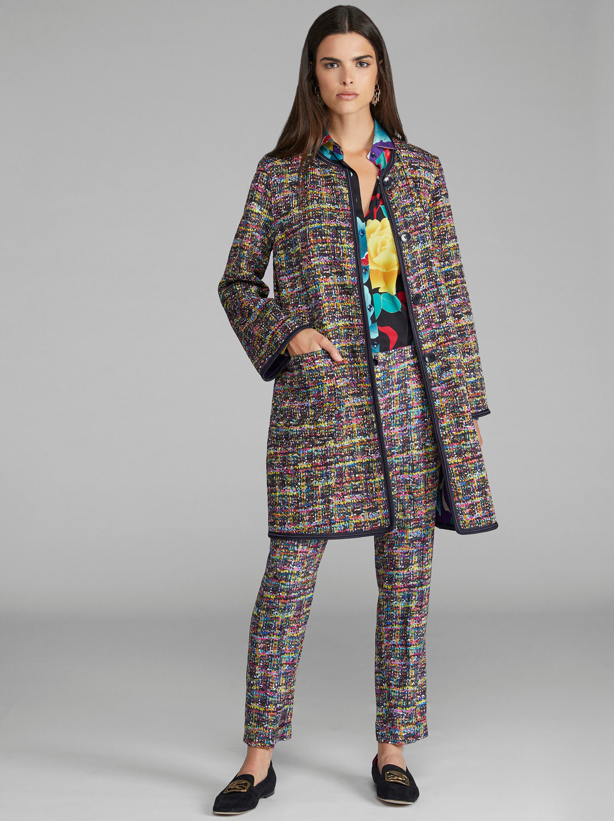 DOUBLE-SIDED MATELASSÉ COAT
