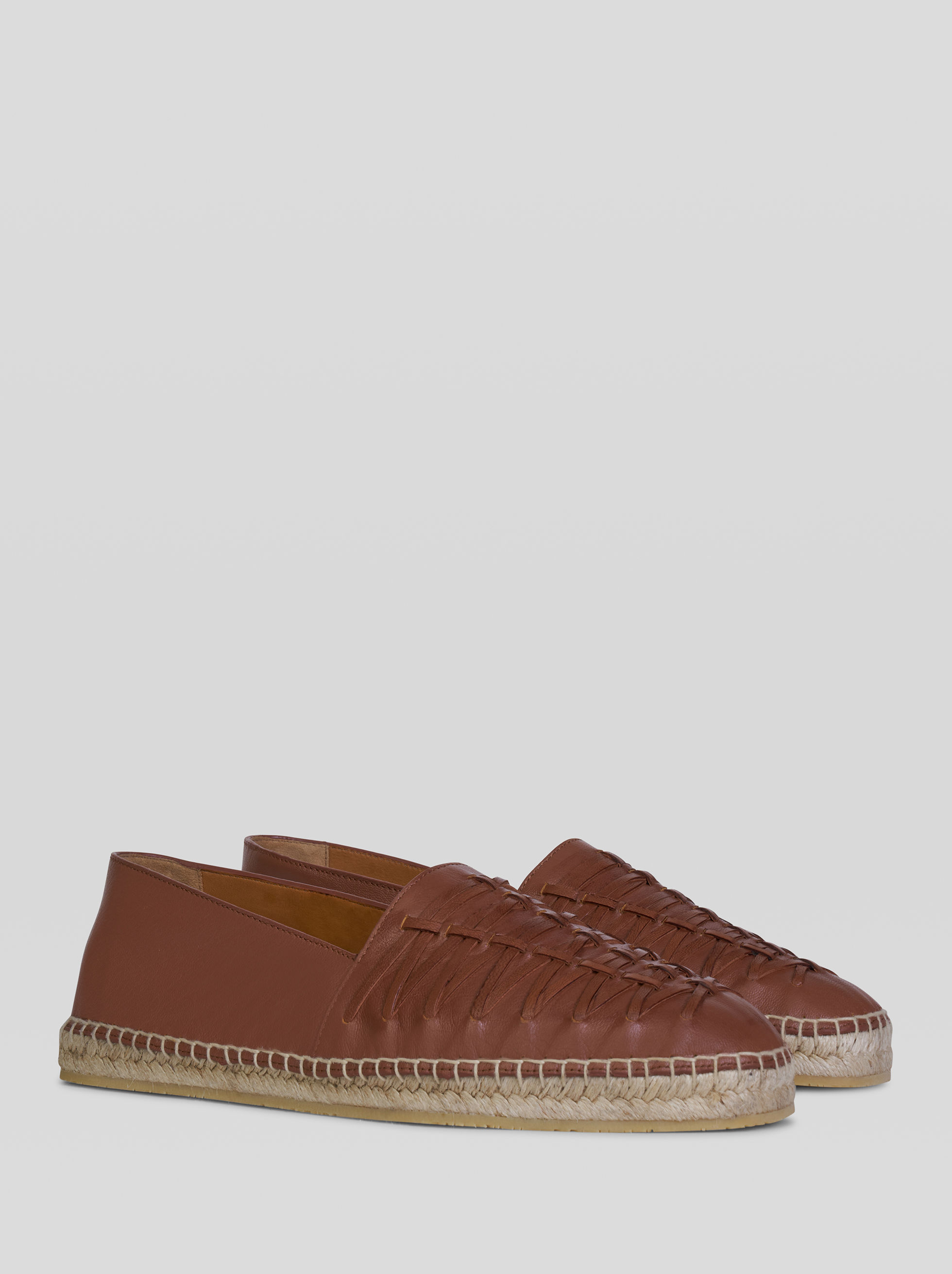 SUEDE ESPADRILLES WITH WEAVES