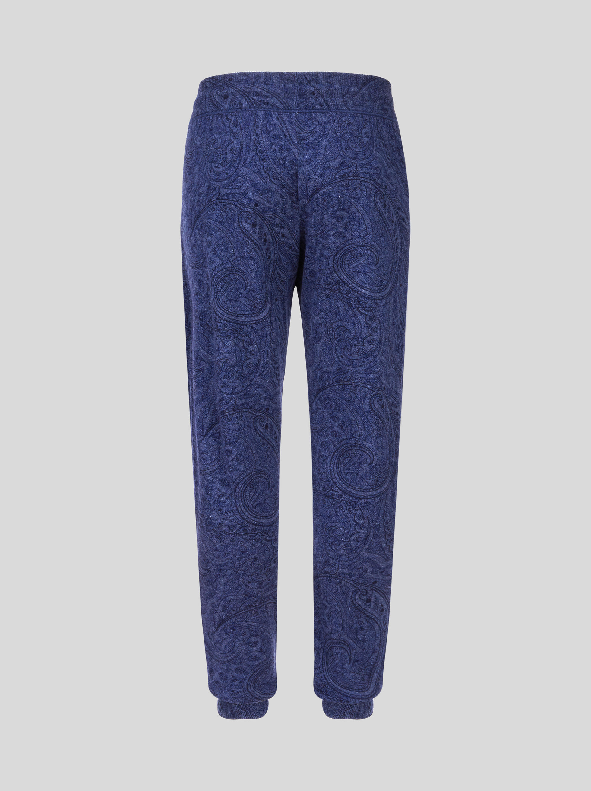 CASHMERE TROUSERS WITH PAISLEY PRINT