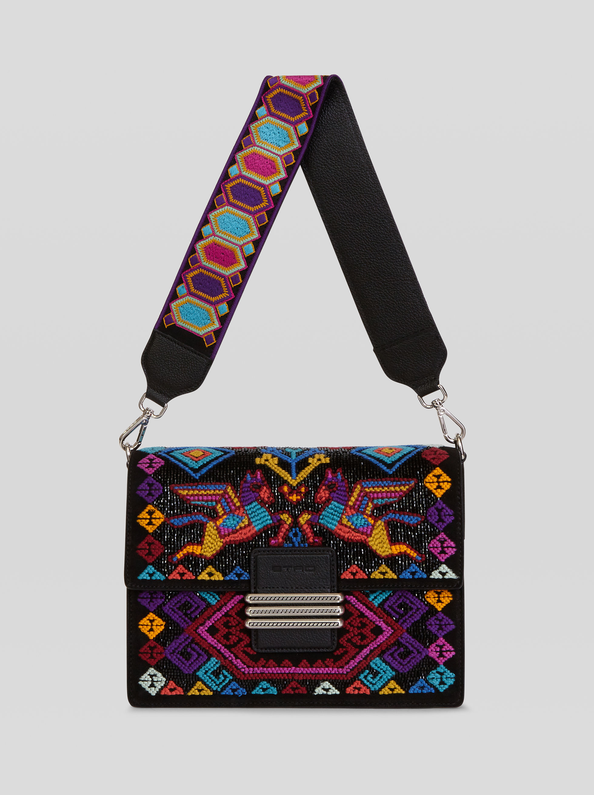 RAINBOW SHOULDER BAG WITH EMBROIDERY