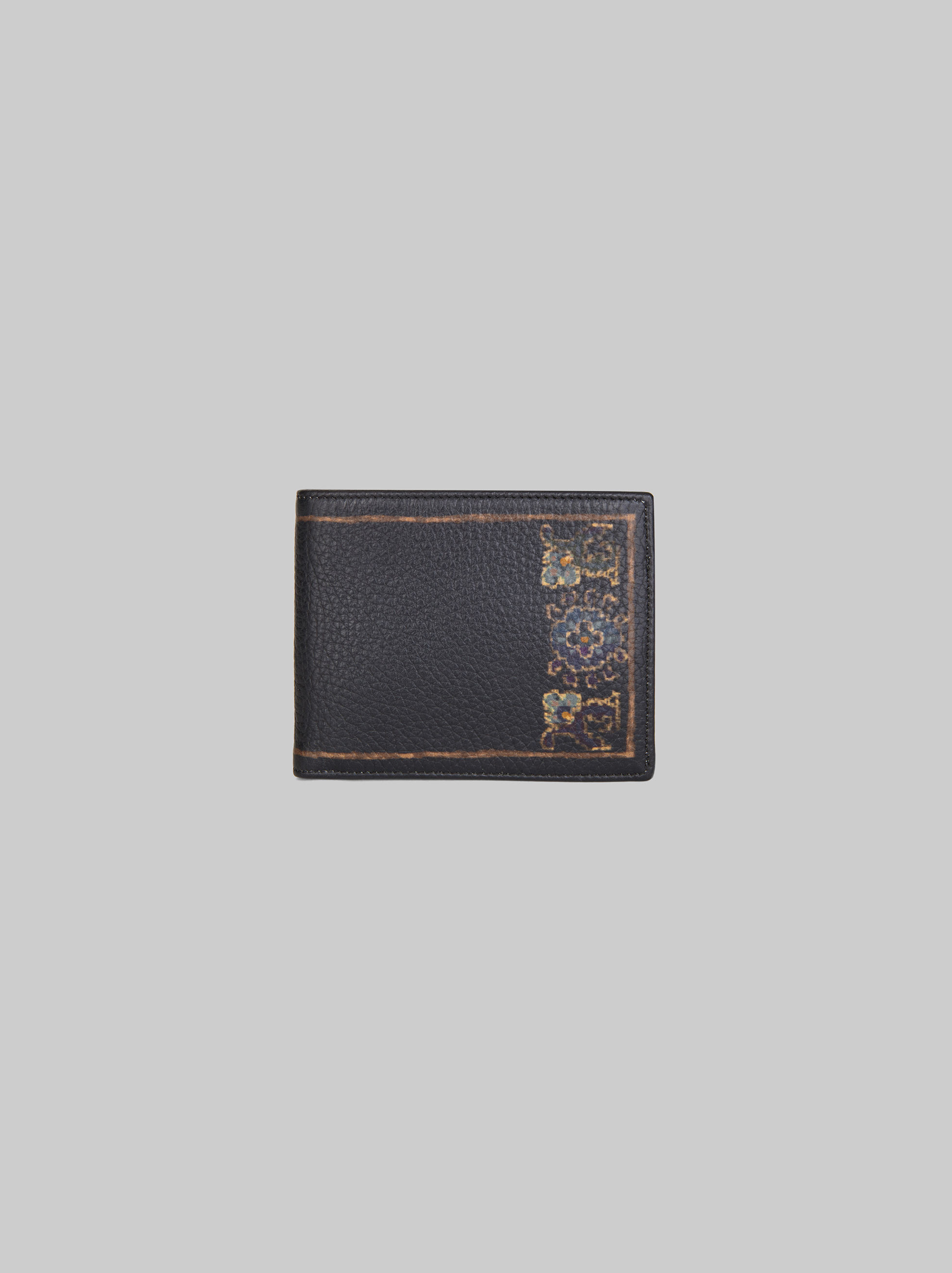 CARPET-PRINT LEATHER WALLET