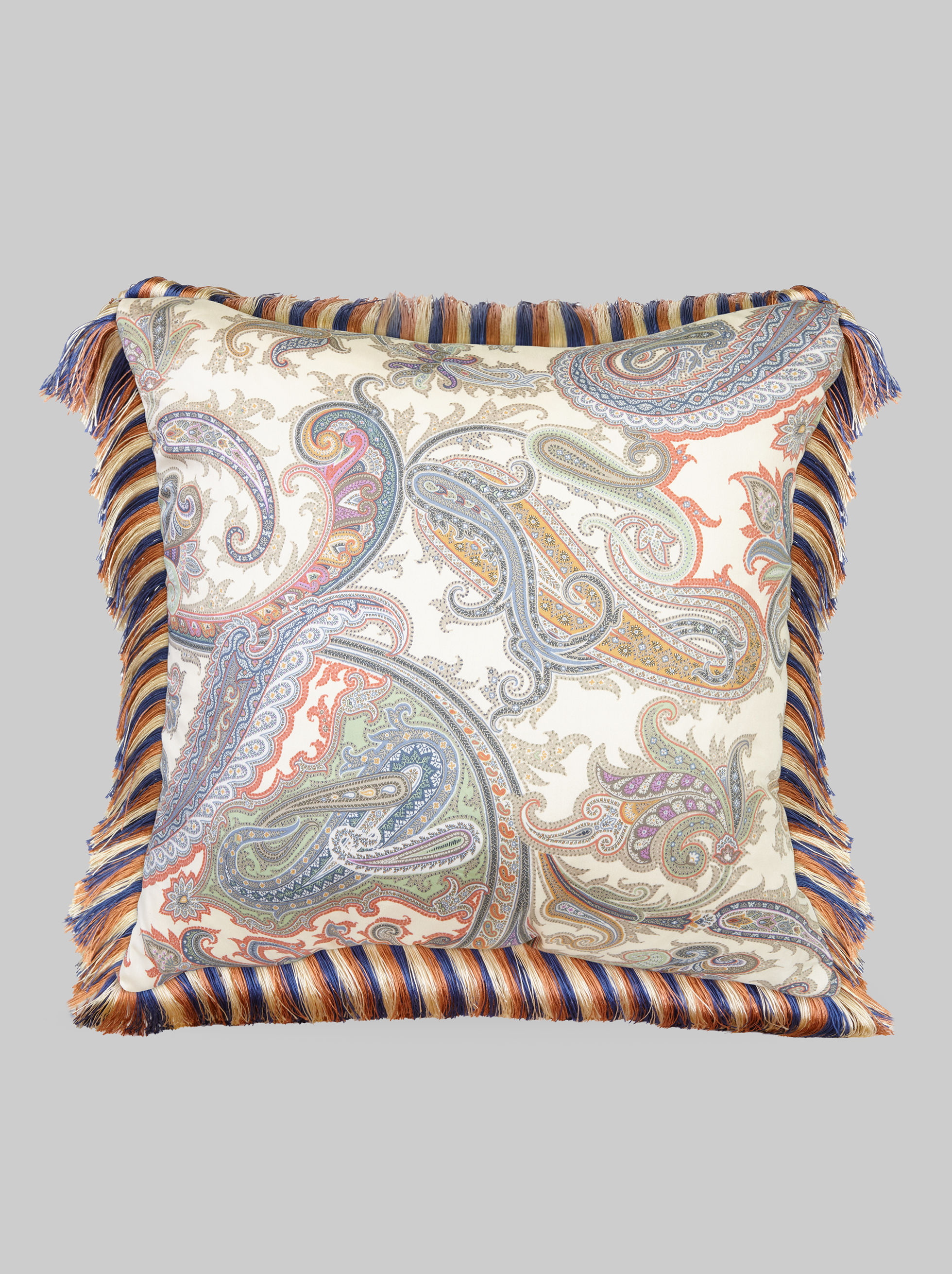 THROW PILLOW WITH FRINGE DETAILS